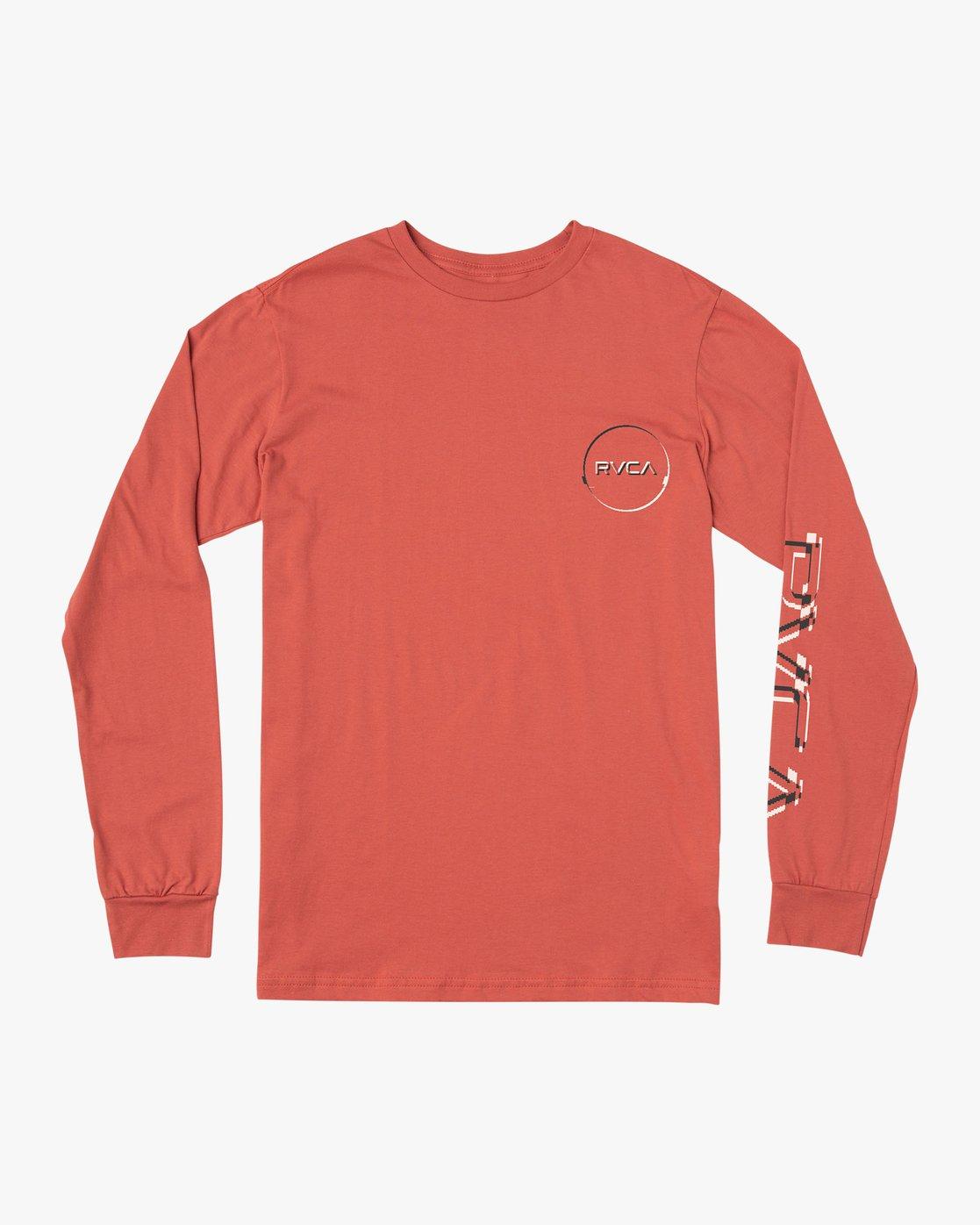 1 Big Glitch Long Sleeve T-Shirt Green M451VRBG RVCA