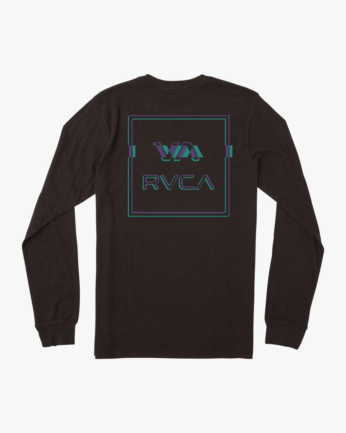 0 Big Glitch Long Sleeve T-Shirt Black M451VRBG RVCA