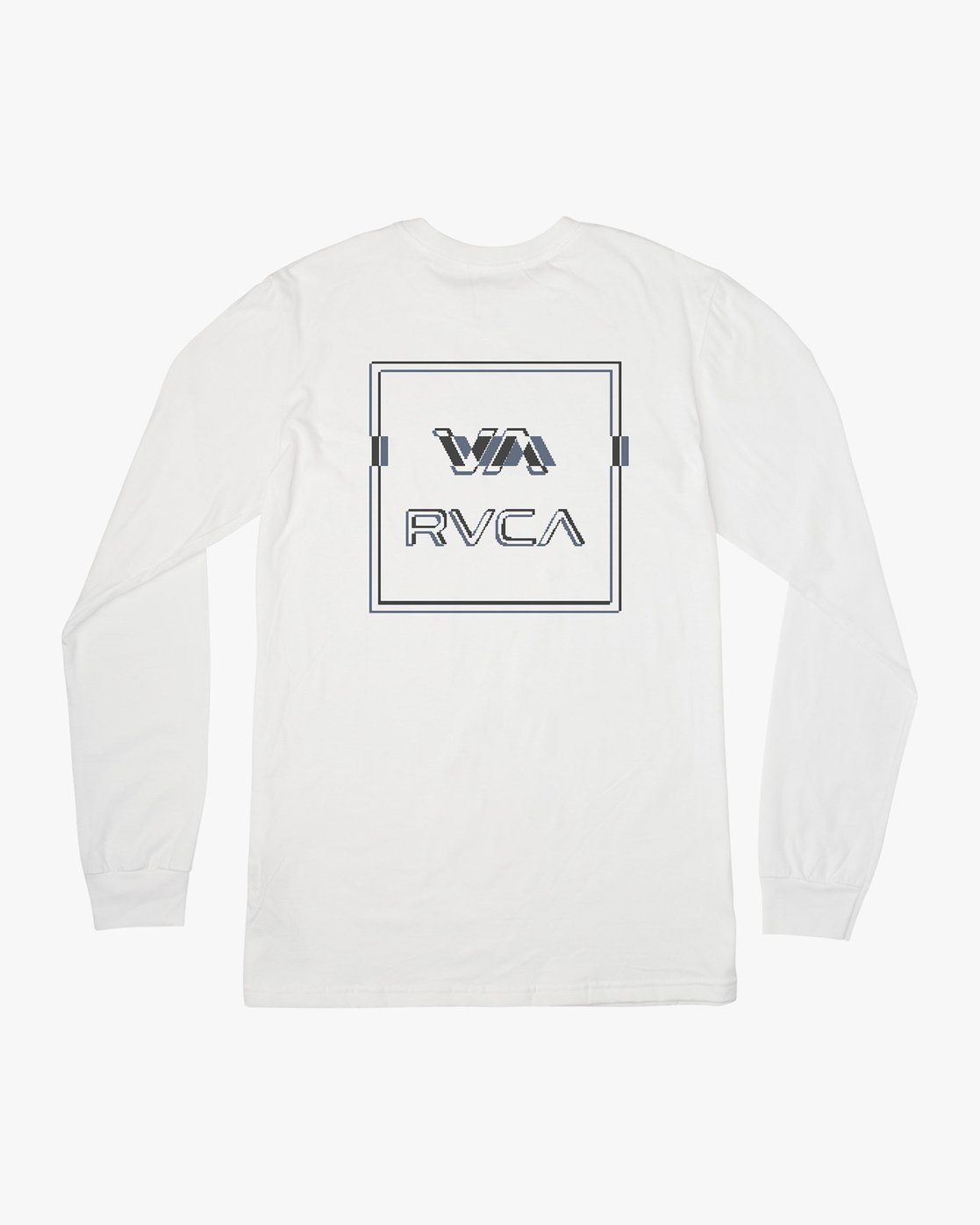 0 Big Glitch Long Sleeve T-Shirt White M451VRBG RVCA