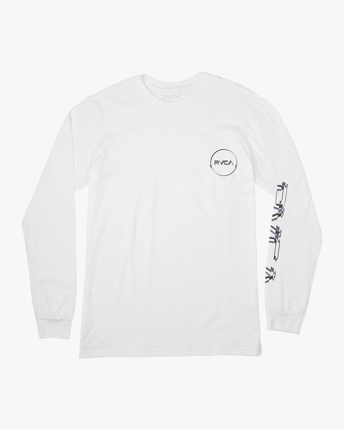 1 Big Glitch Long Sleeve T-Shirt White M451VRBG RVCA