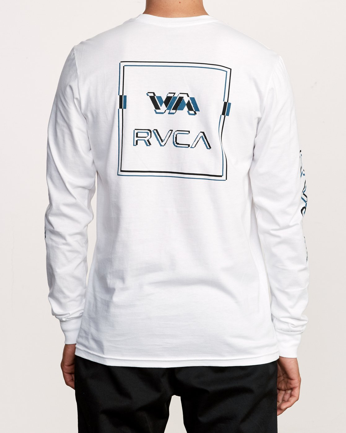 5 Big Glitch Long Sleeve T-Shirt White M451VRBG RVCA