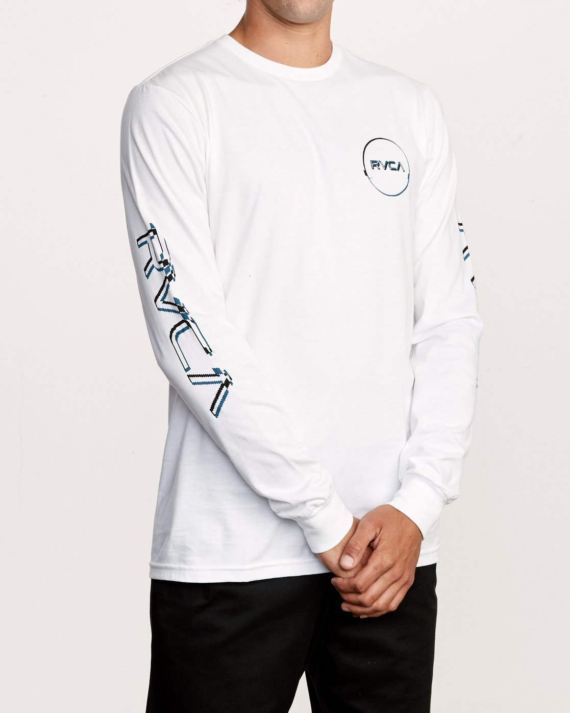 4 Big Glitch Long Sleeve T-Shirt White M451VRBG RVCA