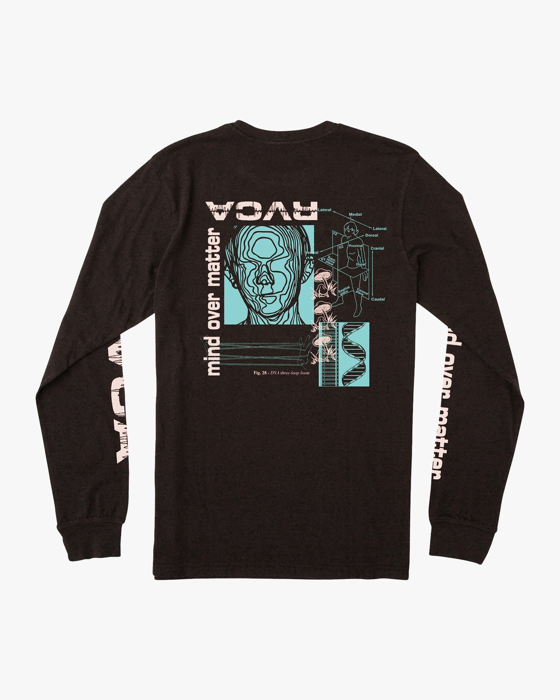 0 Matter Long Sleeve T-Shirt Black M451VRMA RVCA