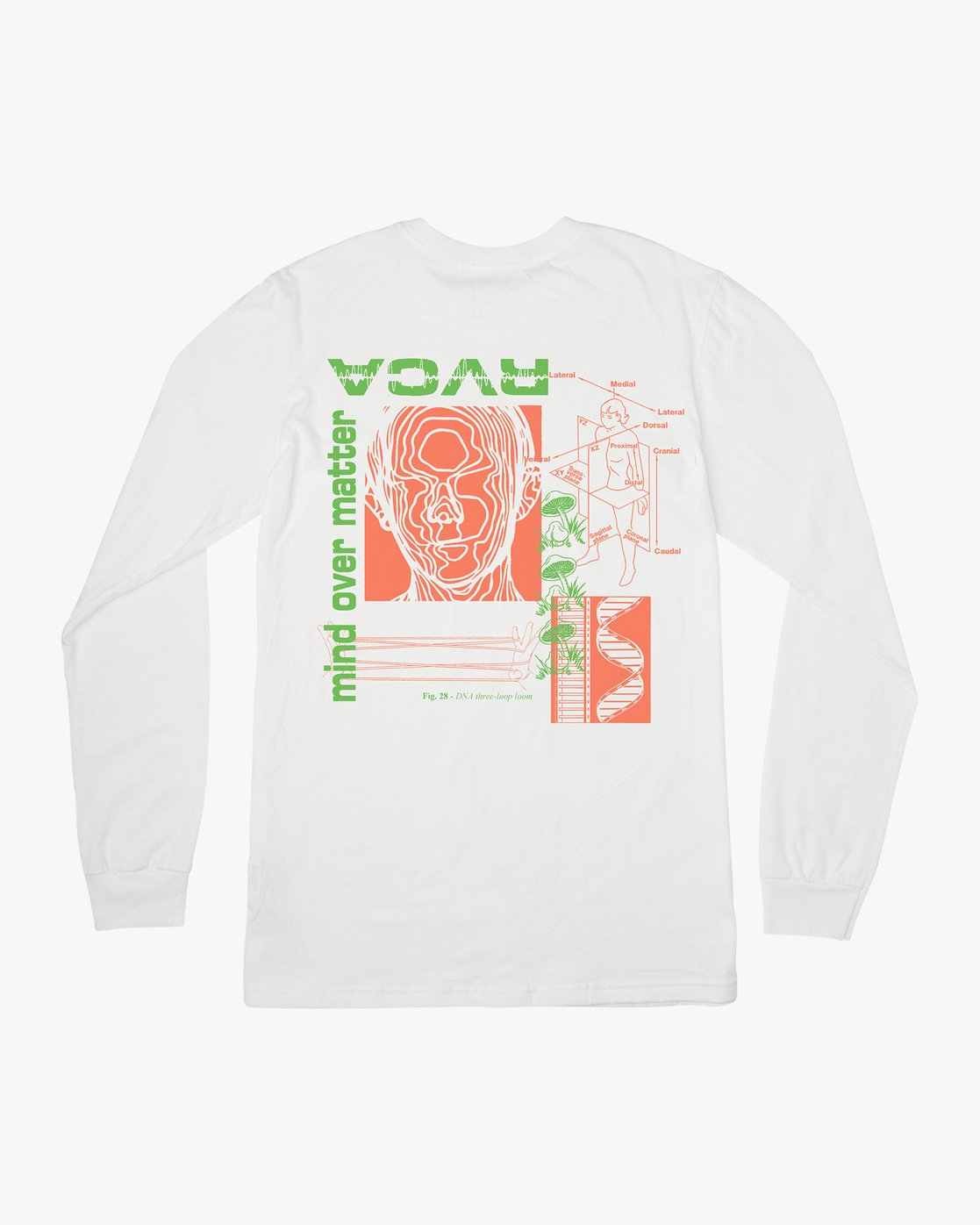 0 Matter Long Sleeve T-Shirt White M451VRMA RVCA