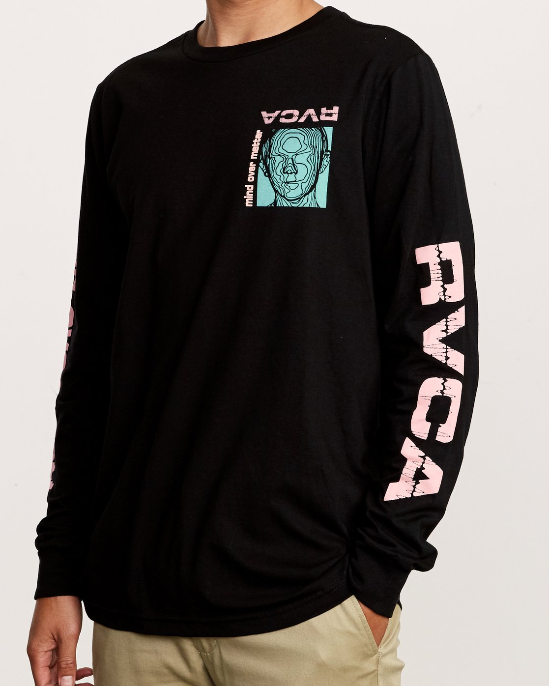 6 Matter Long Sleeve T-Shirt Black M451VRMA RVCA