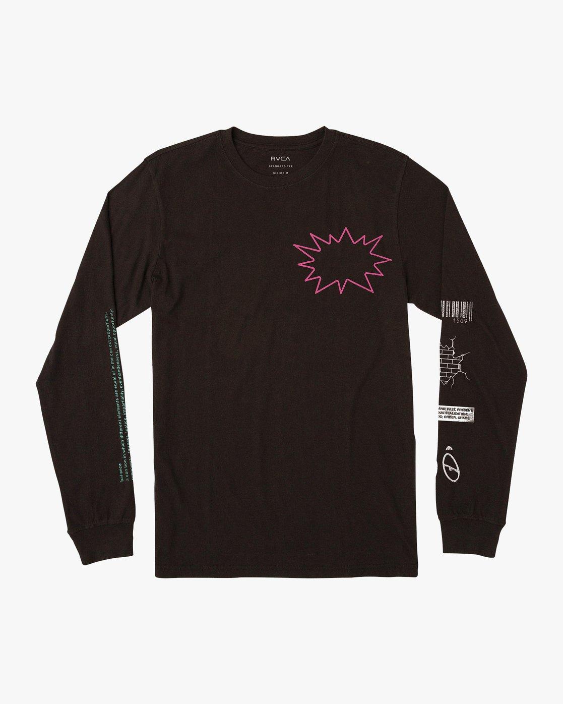 1 TV Dinner Long Sleeve T-Shirt Black M451VRTV RVCA