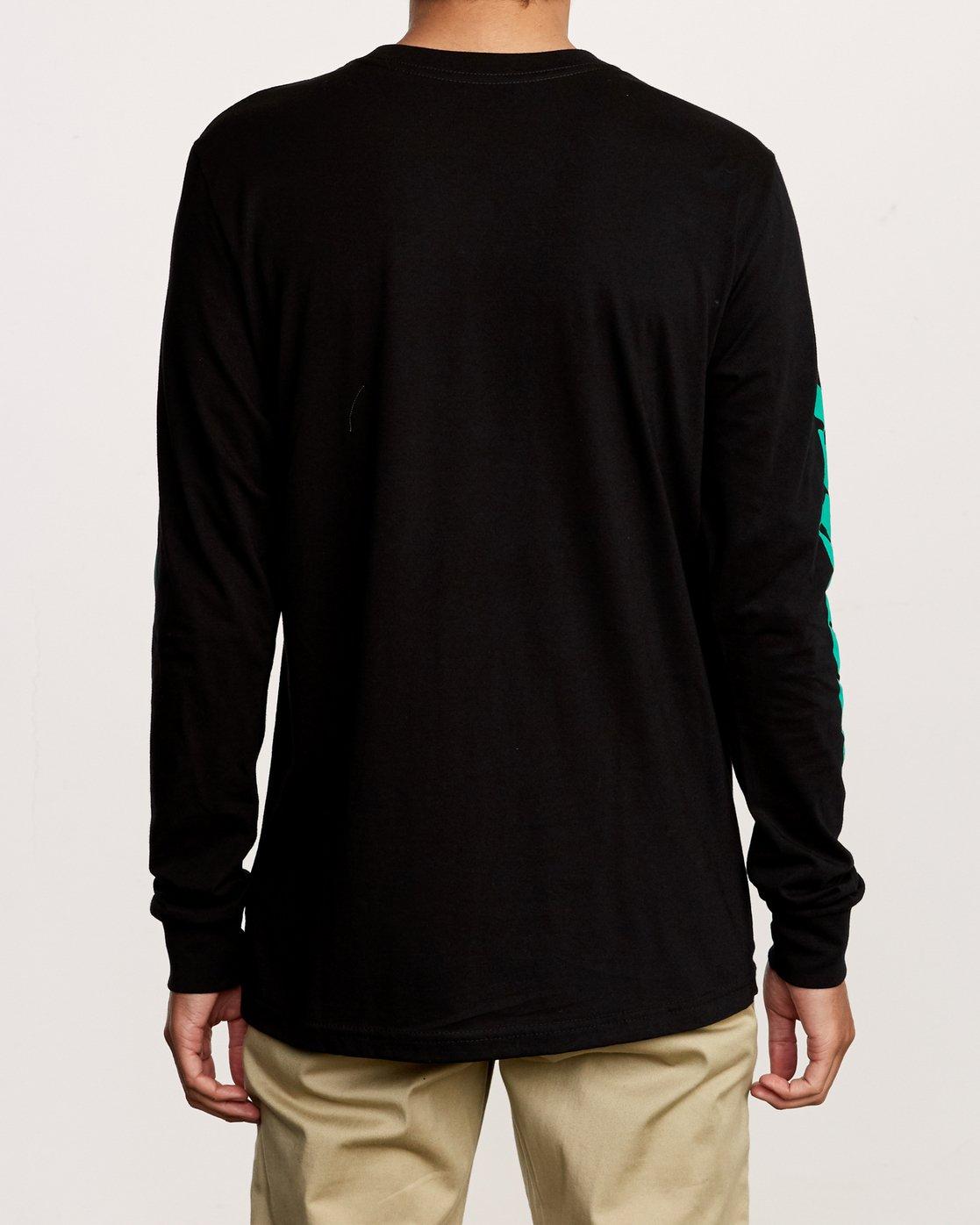 4 Warehouse Long Sleeve T-Shirt Black M451VRWA RVCA