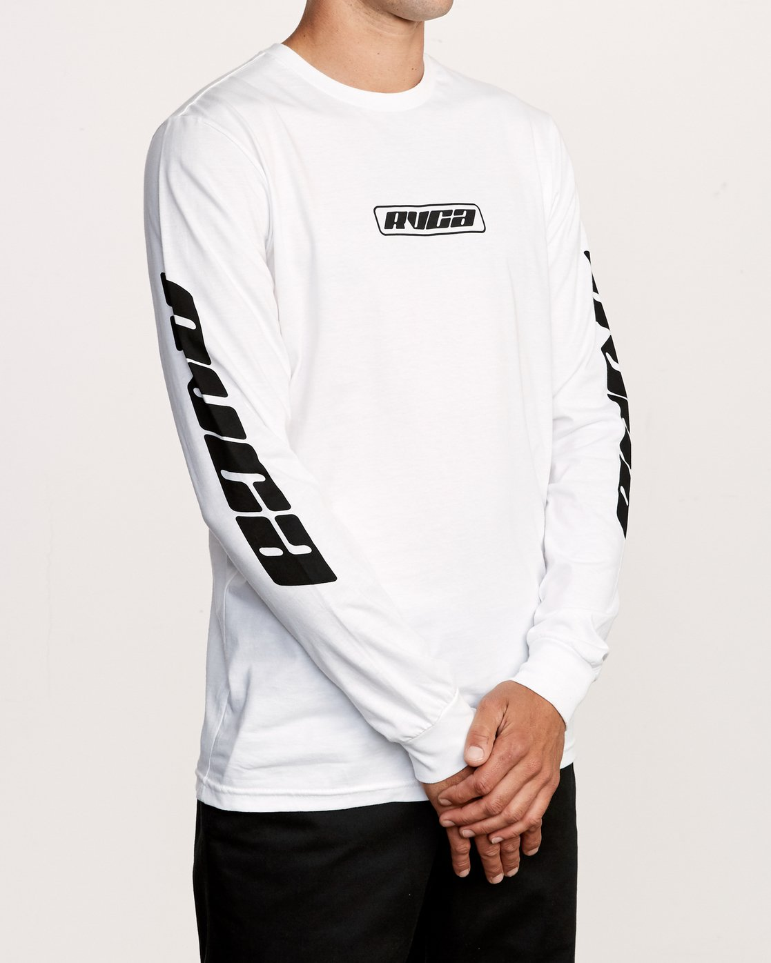 3 Warehouse Long Sleeve T-Shirt White M451VRWA RVCA