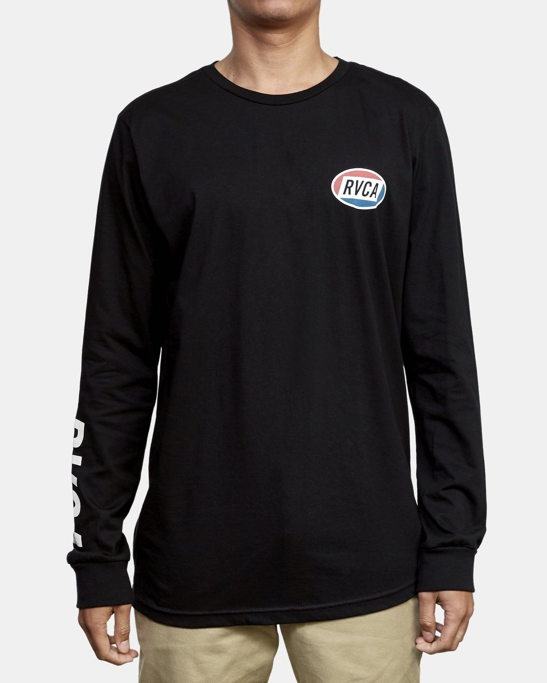 2 Cortex Long Sleeve T-Shirt Black M451WRCT RVCA