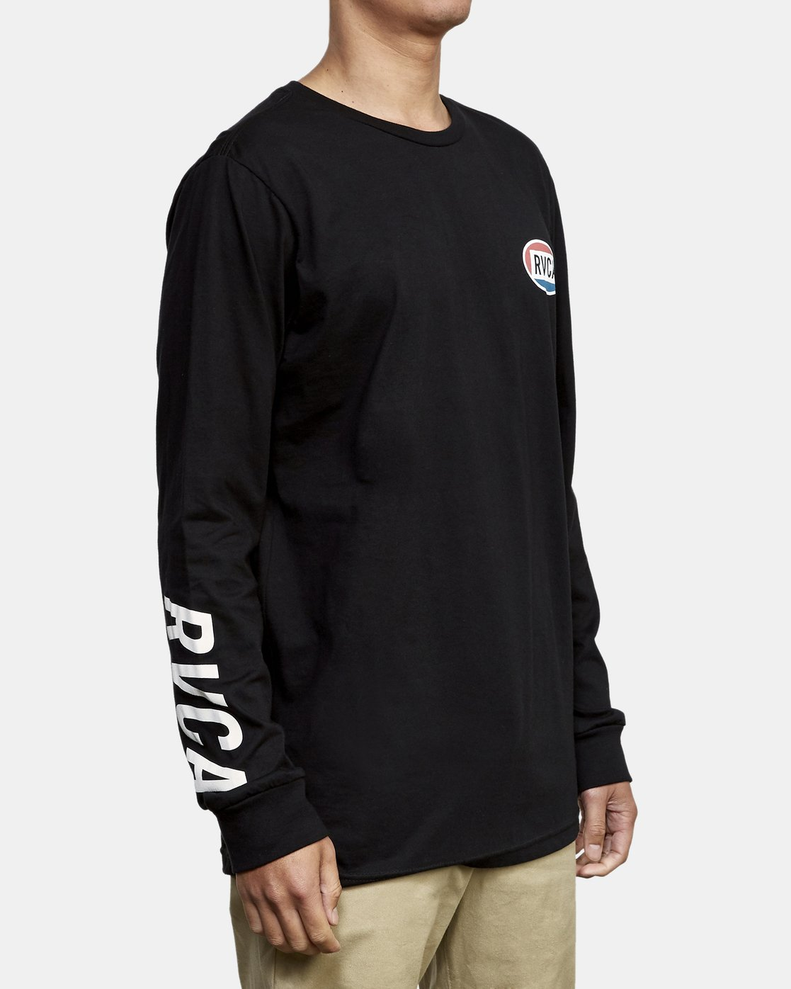 3 Cortex Long Sleeve T-Shirt Black M451WRCT RVCA