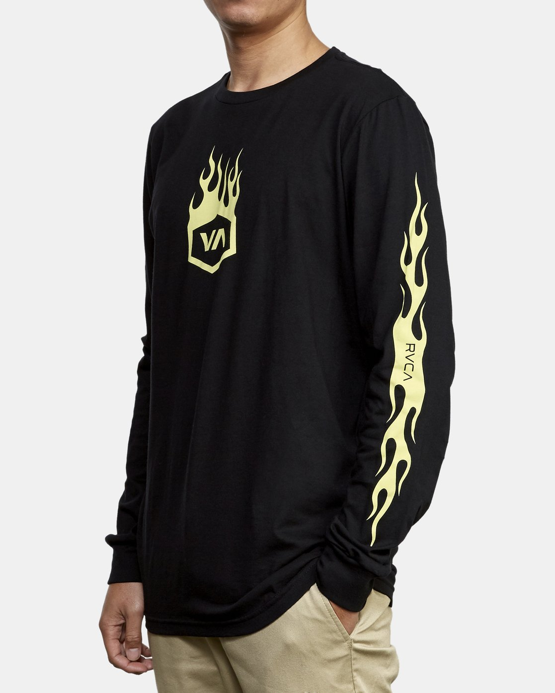 2 Forged Long Sleeve T-Shirt Black M451WRFO RVCA
