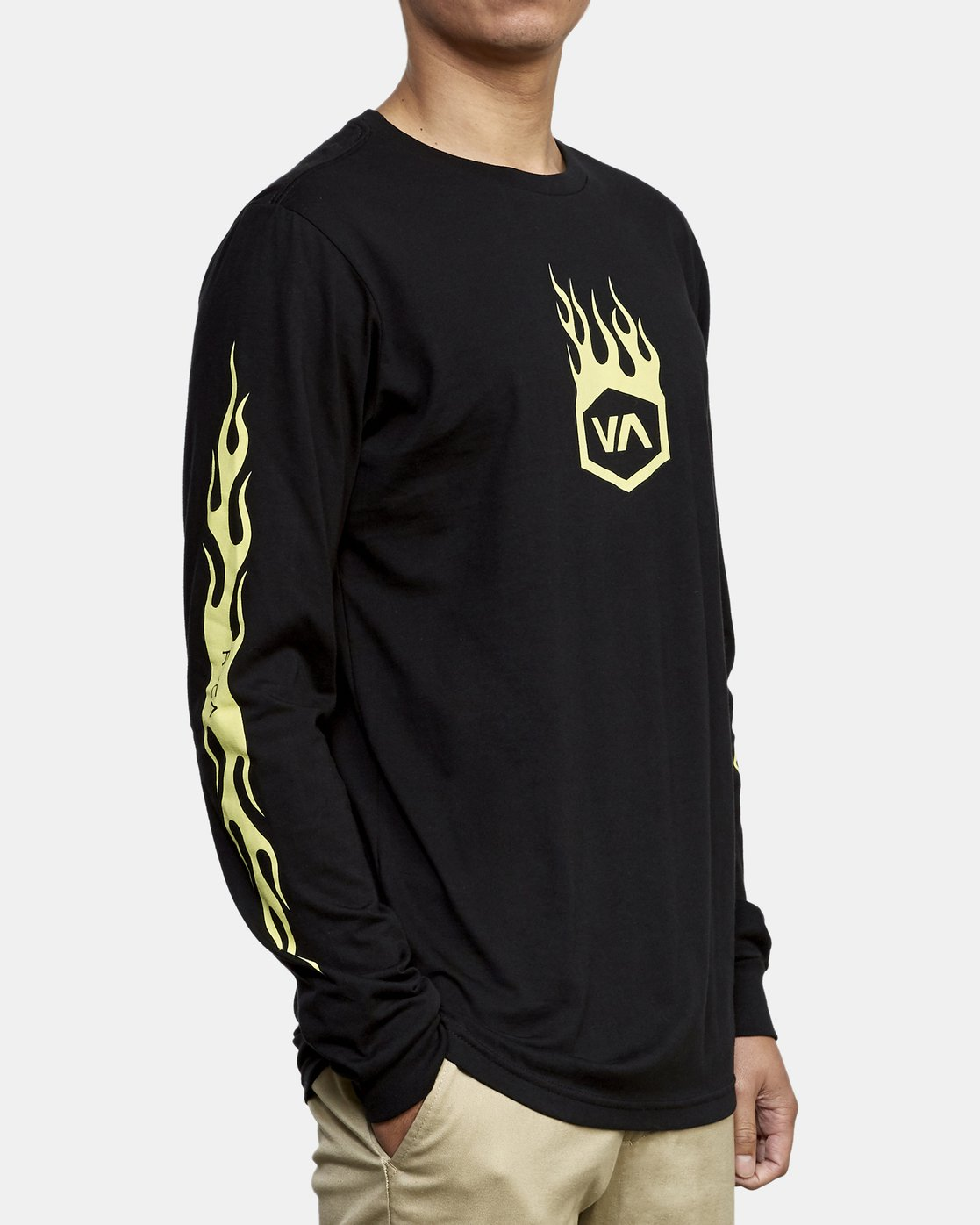 3 Forged Long Sleeve T-Shirt Black M451WRFO RVCA