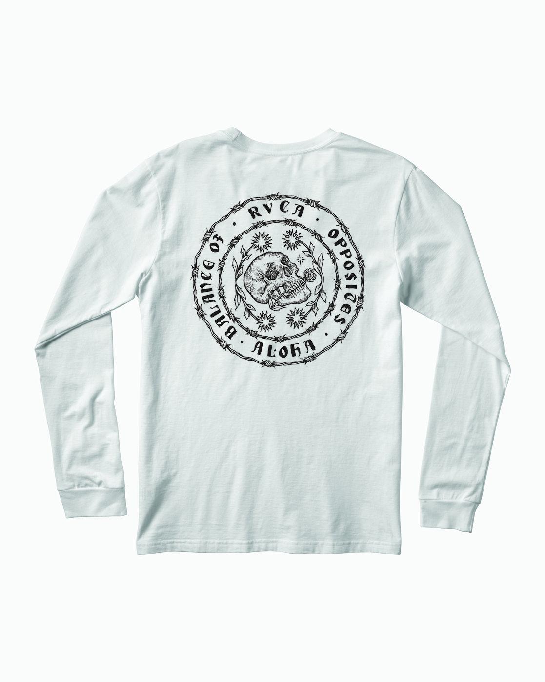 0 JeanJean Skull Wire Aloha Long Sleeve T-Shirt White M451WRSK RVCA