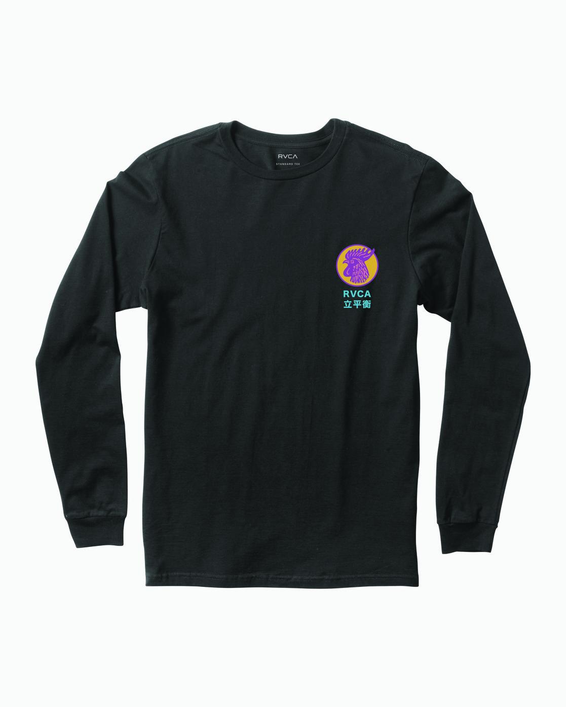 1 Take Out Long Sleeve T-Shirt Black M451WRTA RVCA