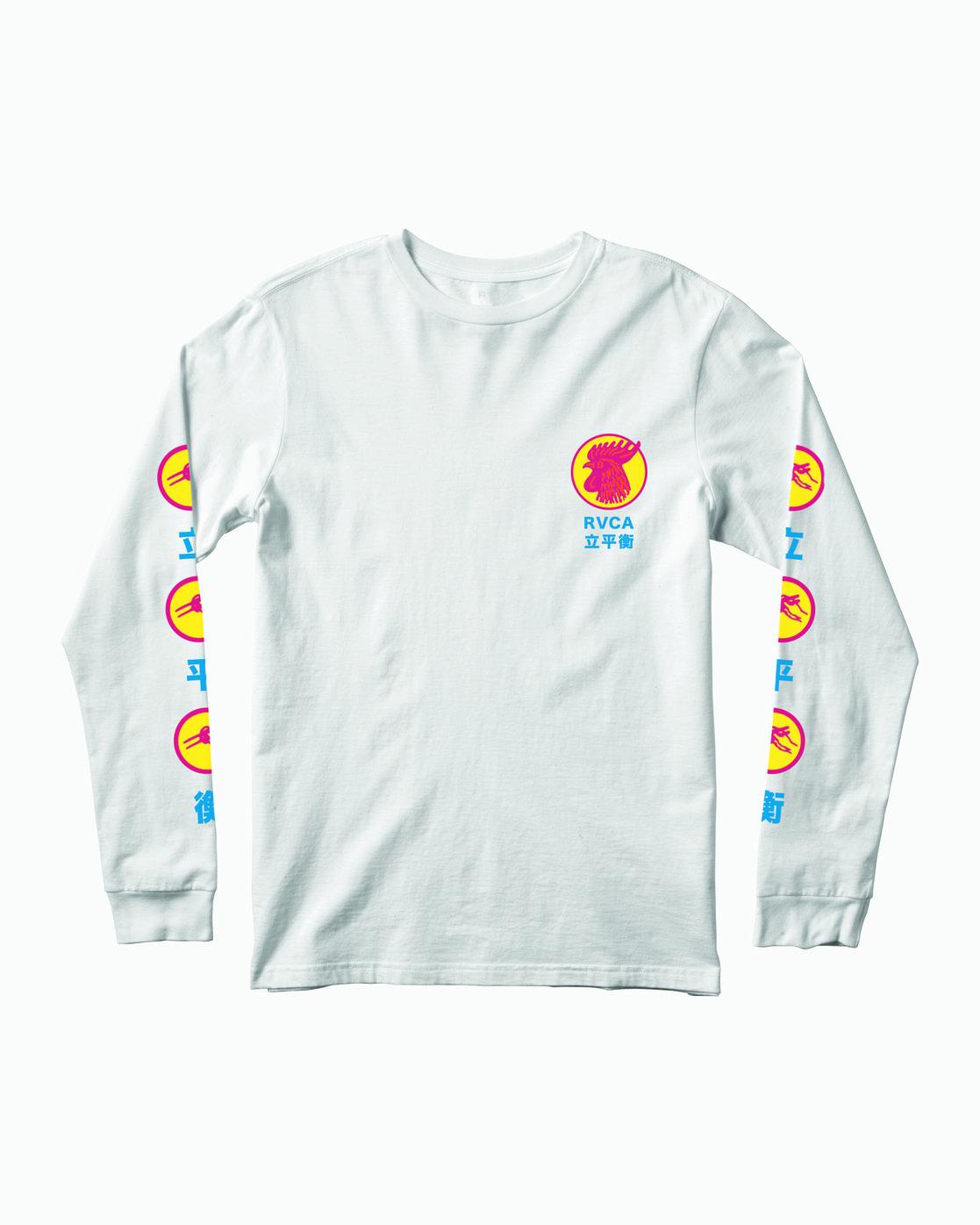 1 Take Out Long Sleeve T-Shirt White M451WRTA RVCA