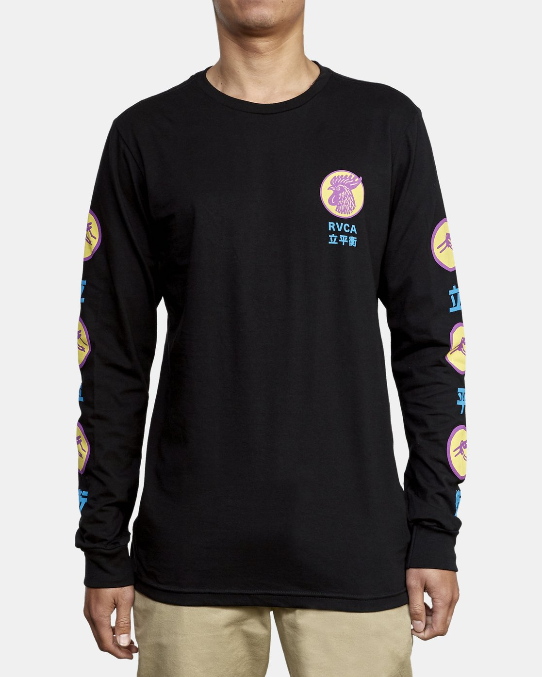 2 Take Out Long Sleeve T-Shirt Black M451WRTA RVCA