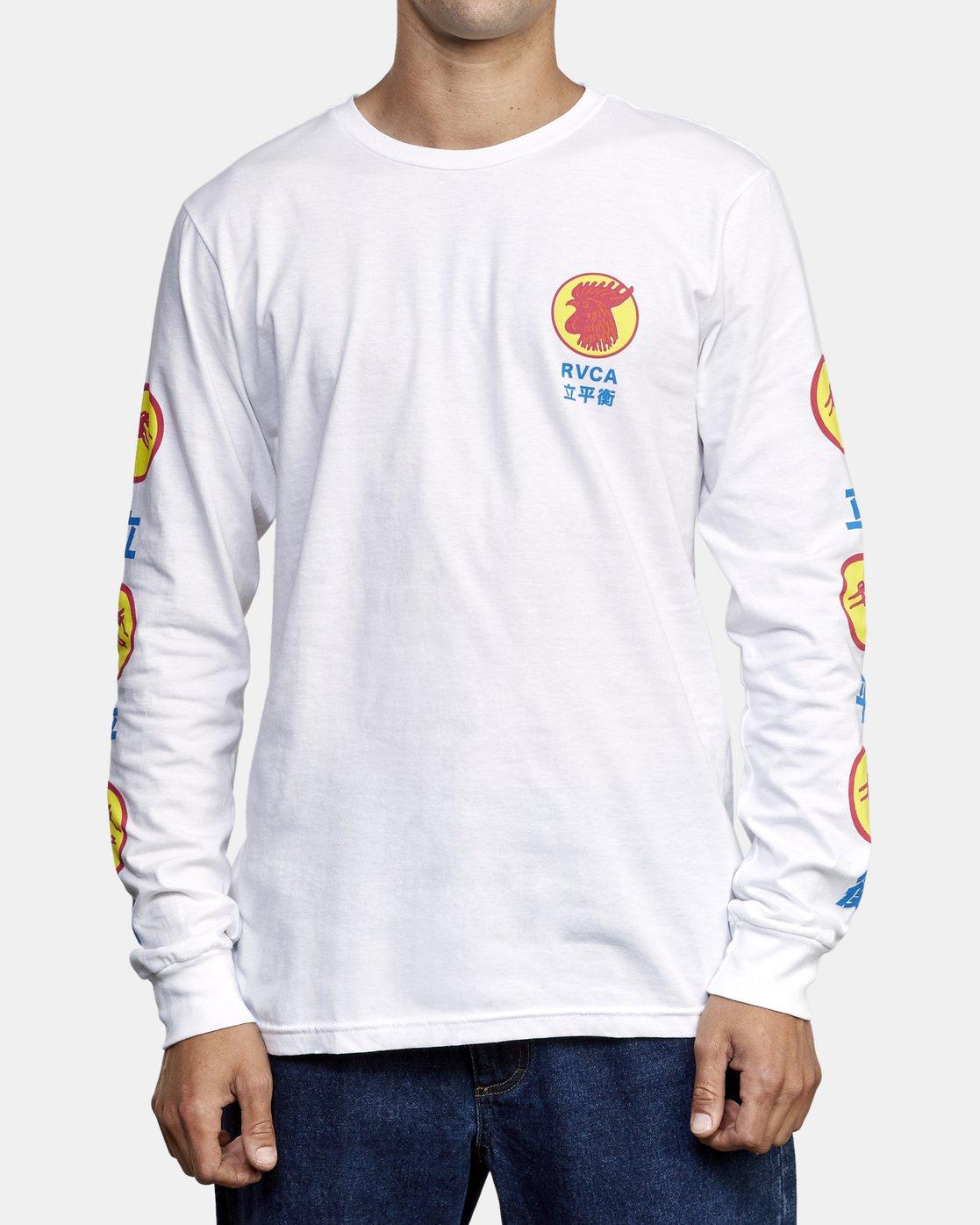 2 Take Out Long Sleeve T-Shirt White M451WRTA RVCA