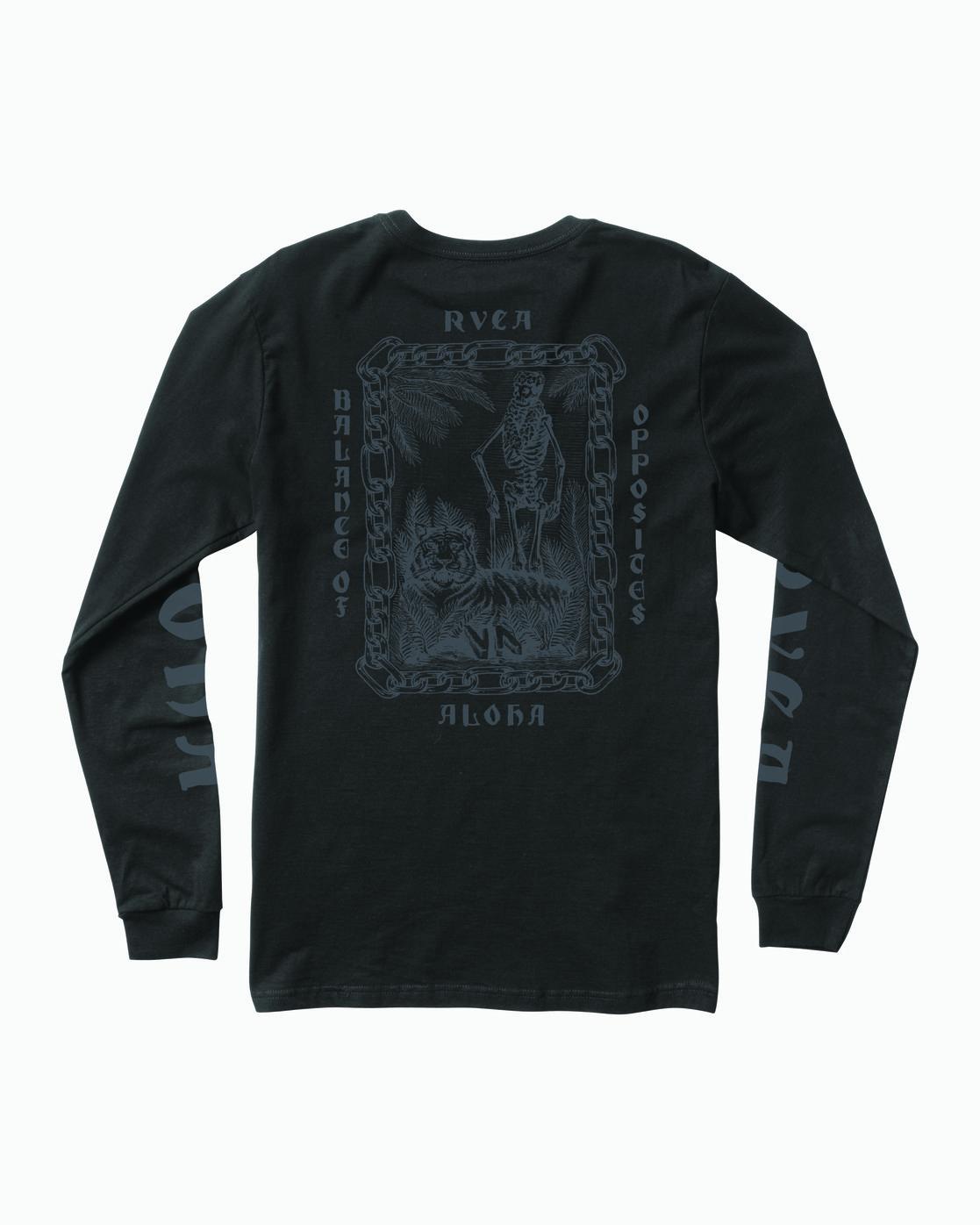 0 JeanJean Tiger Portrait Long Sleeve T-Shirt Black M451WRTI RVCA