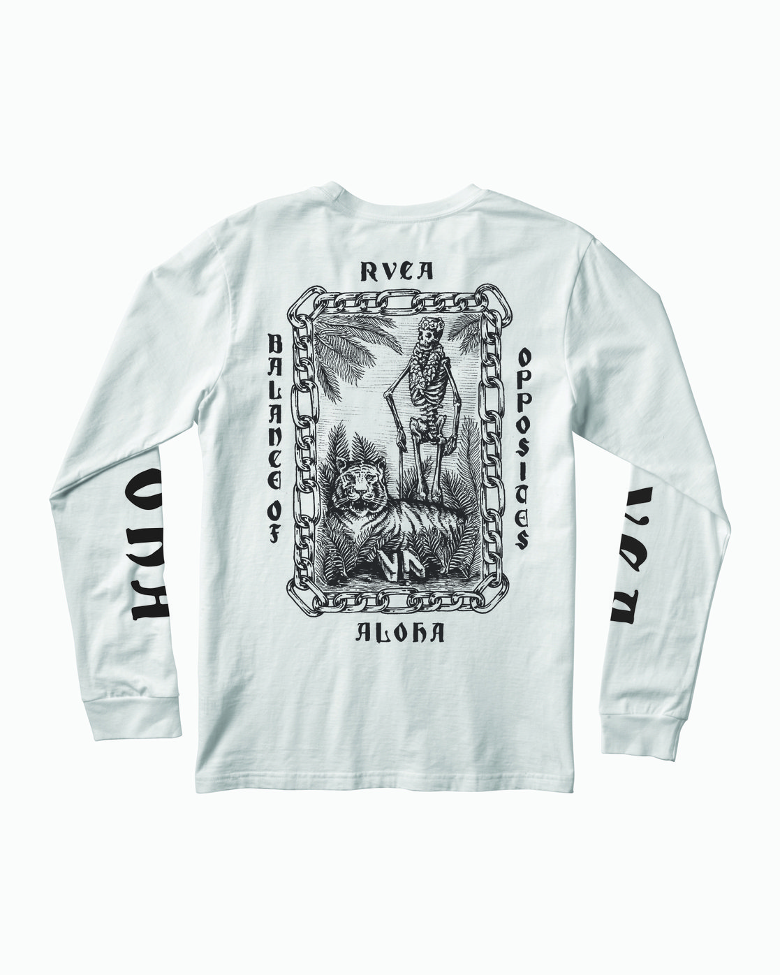 0 JeanJean Tiger Portrait Long Sleeve T-Shirt White M451WRTI RVCA