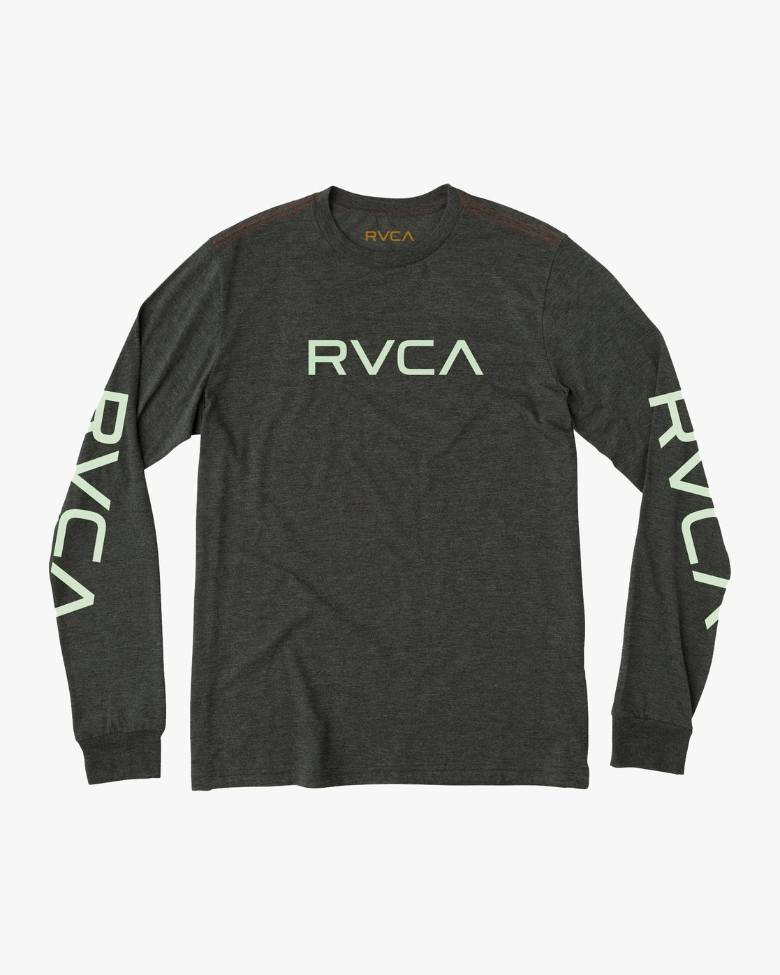 0 Big RVCA Long Sleeve T-Shirt Black M452SRBI RVCA