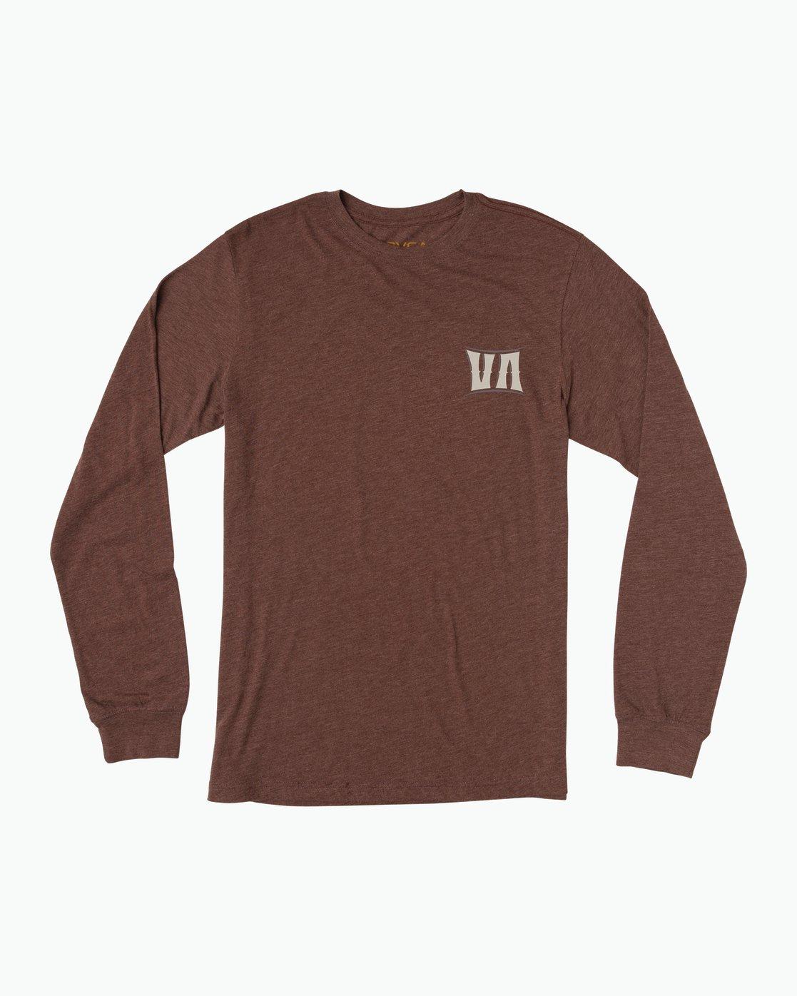 1 Sagebrush Long Sleeve T-Shirt Red M452SRSA RVCA