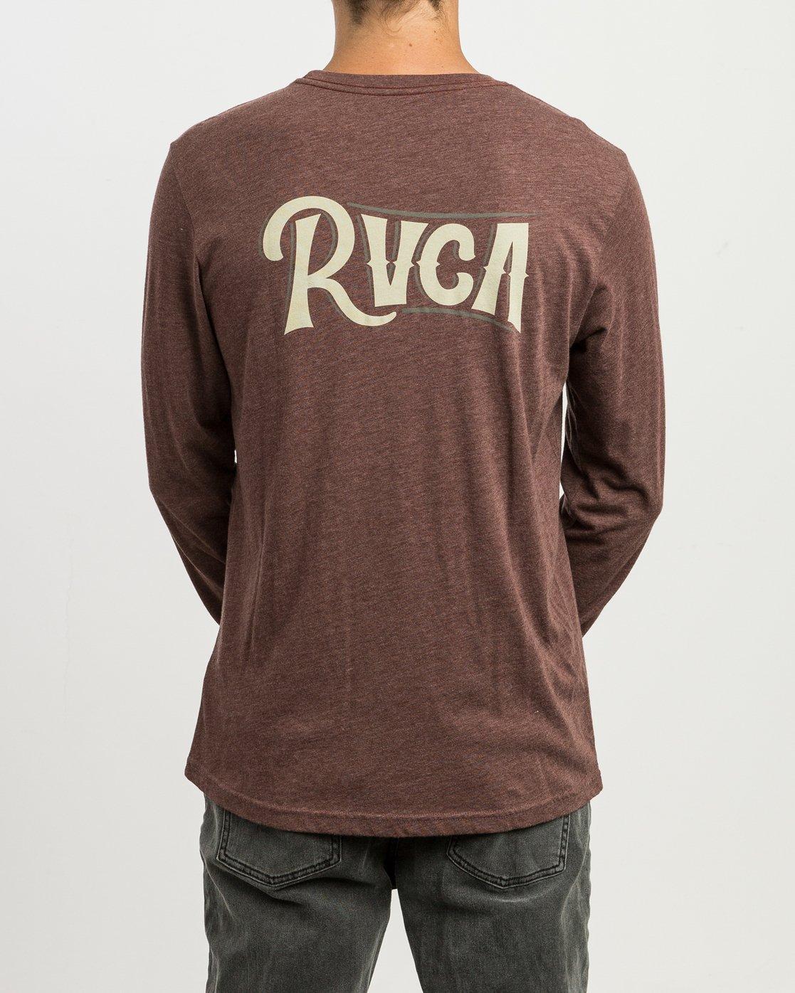 4 Sagebrush Long Sleeve T-Shirt Red M452SRSA RVCA