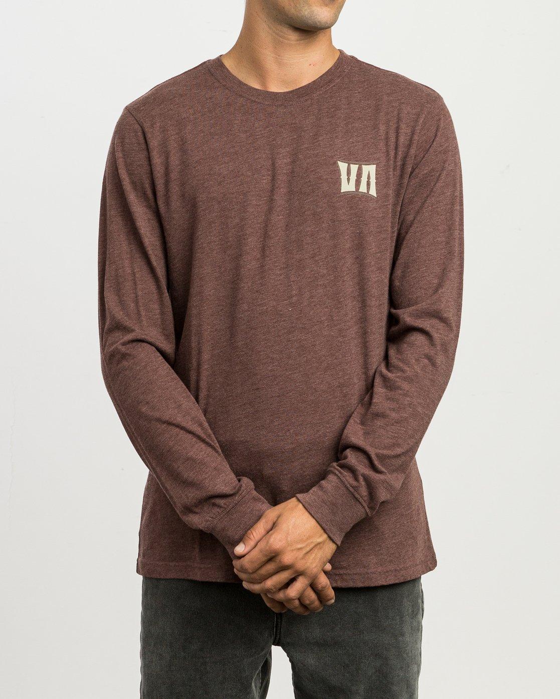2 Sagebrush Long Sleeve T-Shirt Red M452SRSA RVCA