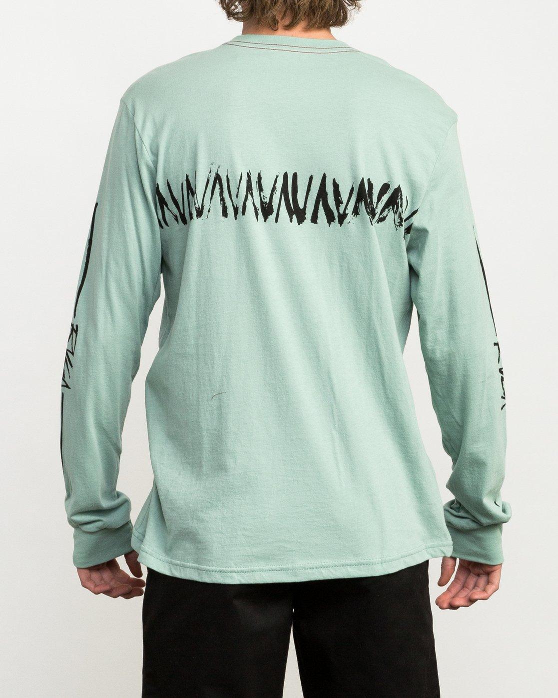 5 Dry Brush Long Sleeve T-Shirt Green M453QRDR RVCA