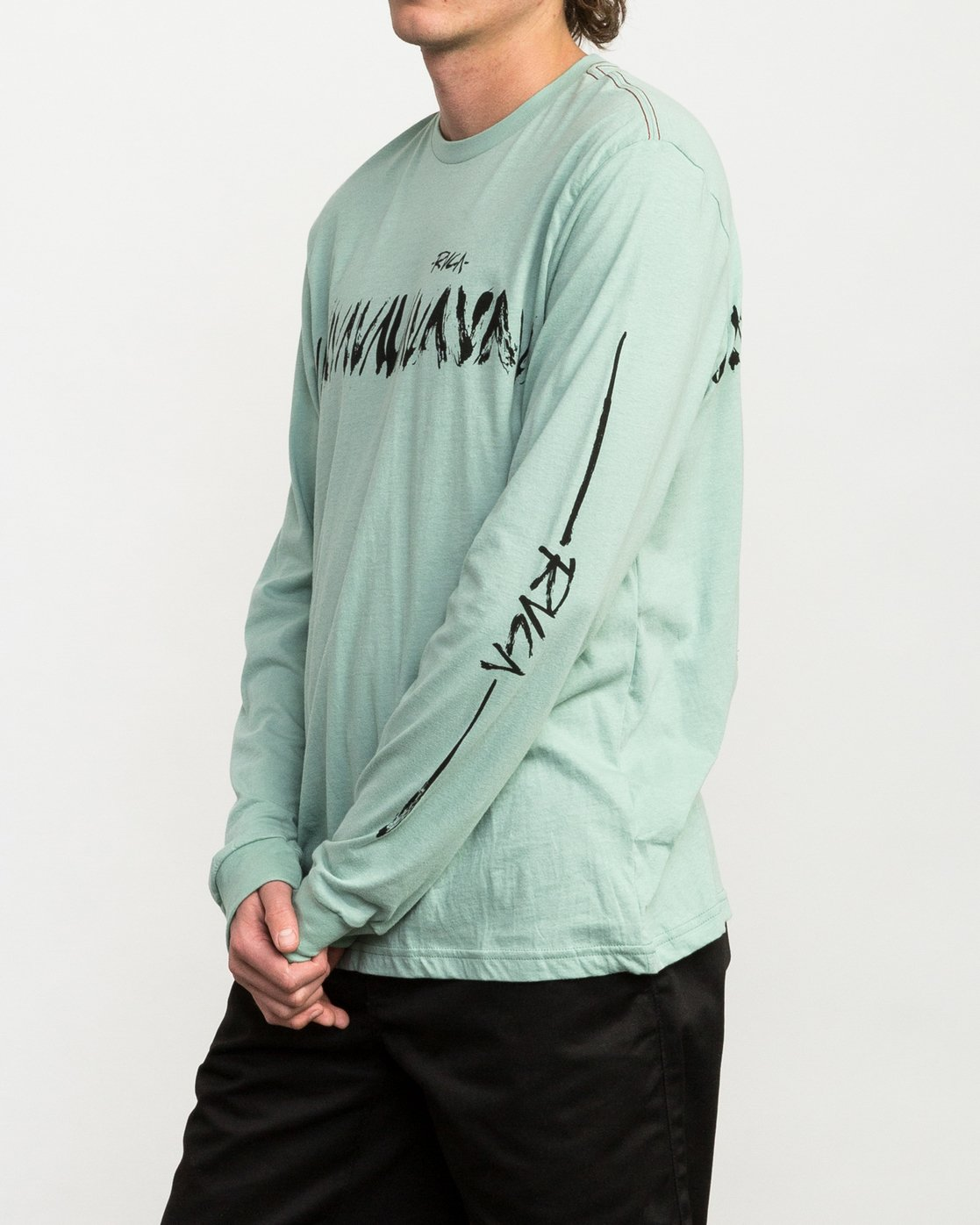 4 Dry Brush Long Sleeve T-Shirt Green M453QRDR RVCA