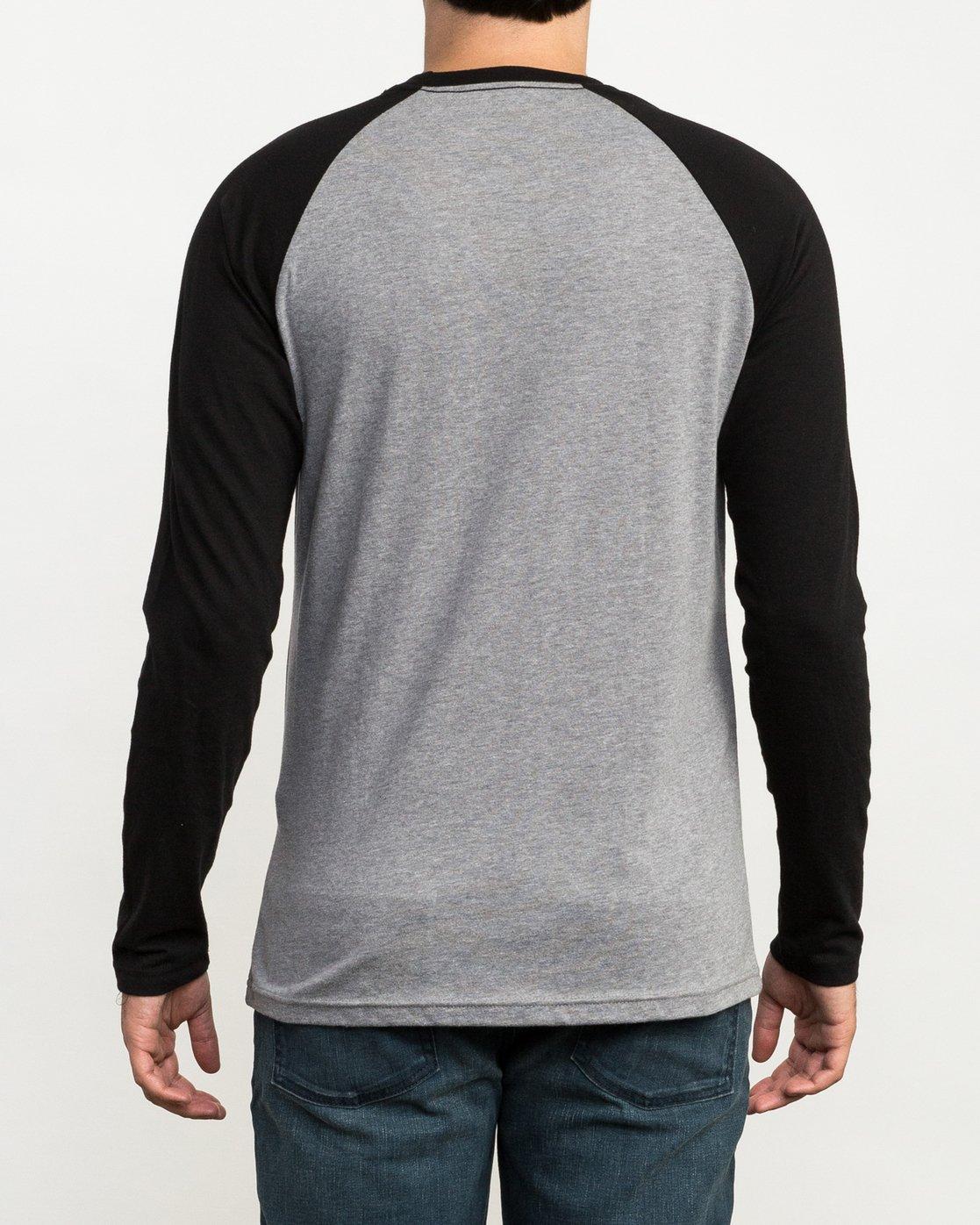 3 Chest Crest Raglan T-Shirt  M454QRCH RVCA