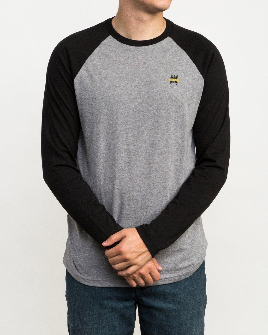 1 Chest Crest Raglan T-Shirt  M454QRCH RVCA