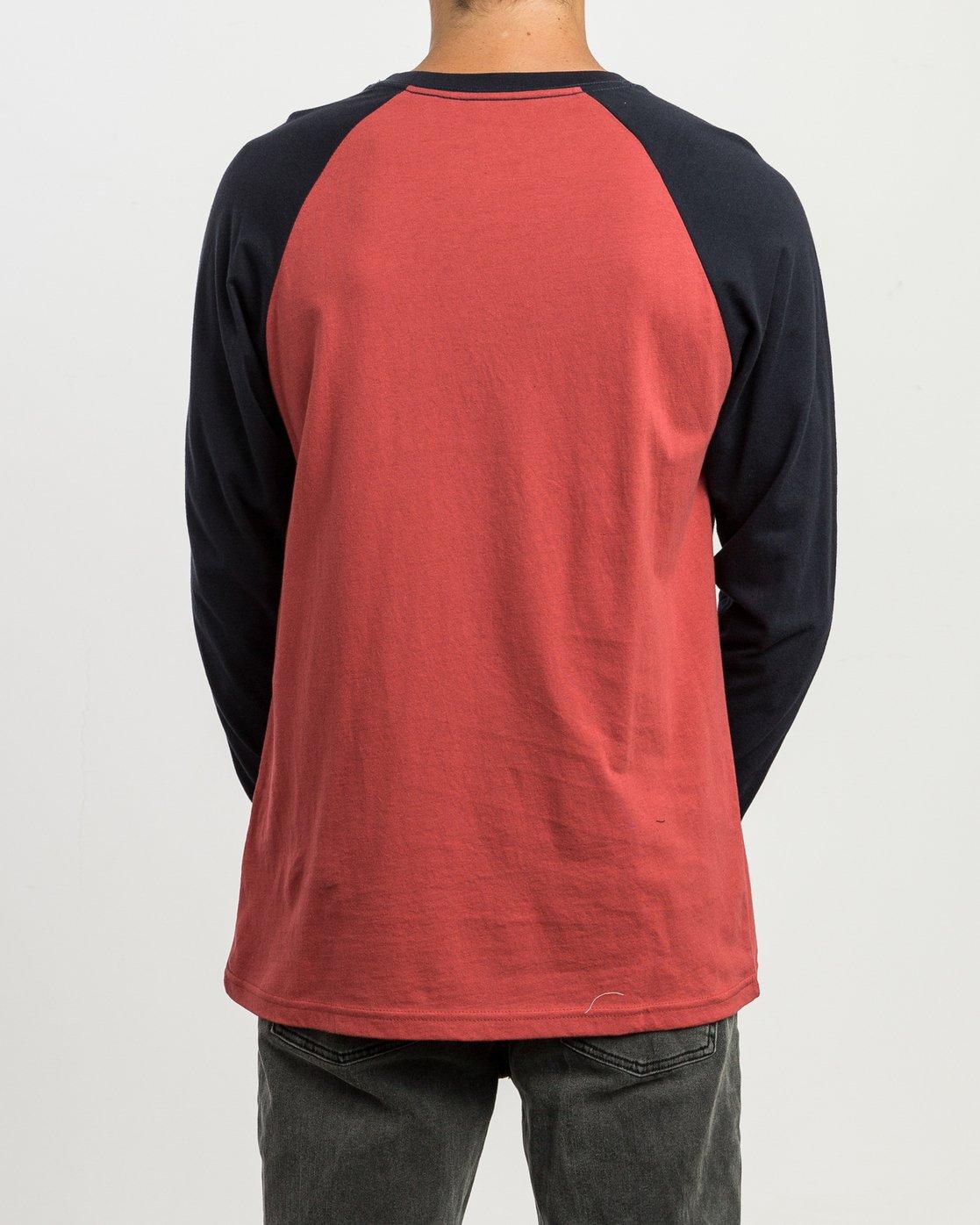 2 Big RVCA Baseball Raglan T-Shirt  M454SRBI RVCA