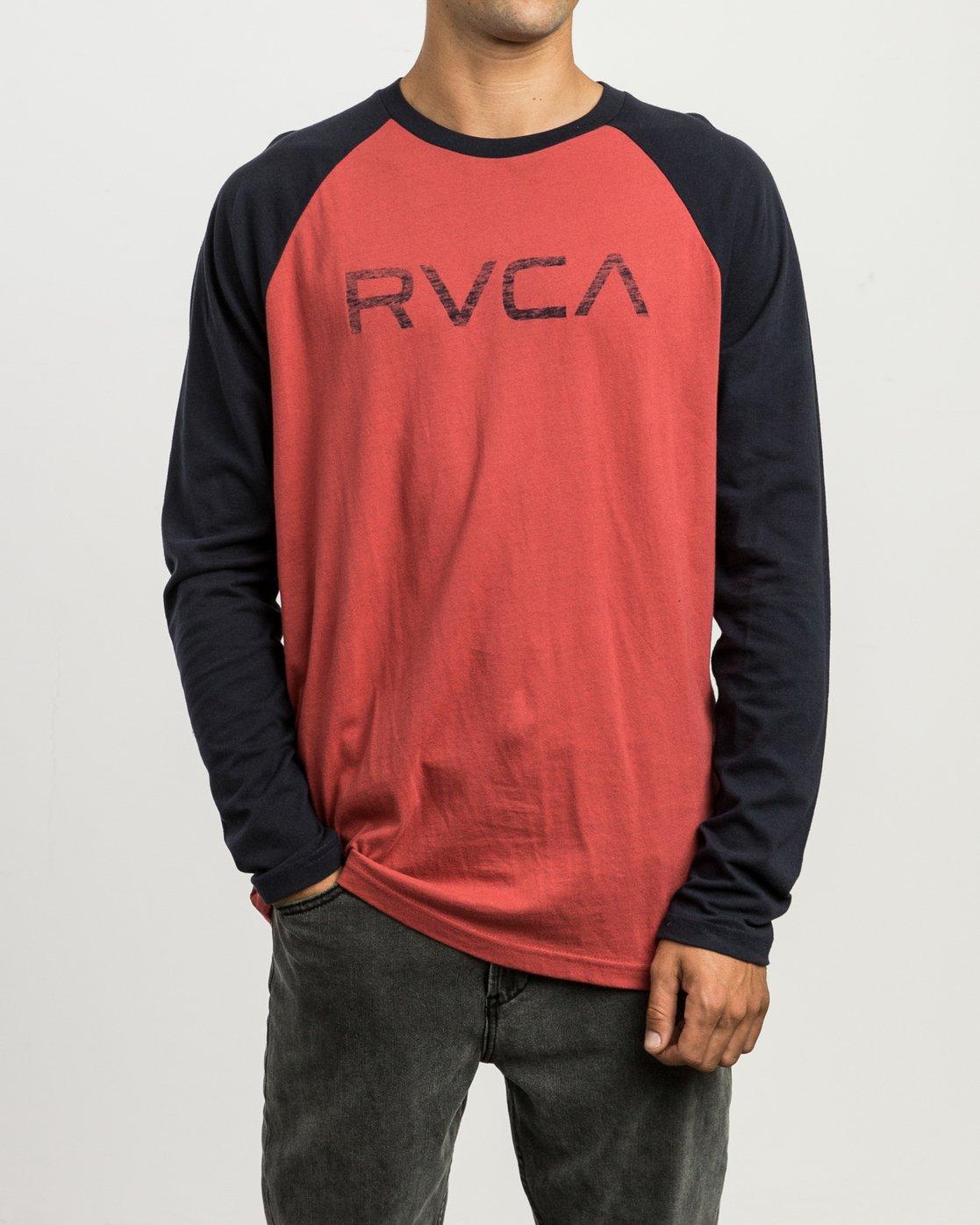 1 Big RVCA Baseball Raglan T-Shirt  M454SRBI RVCA