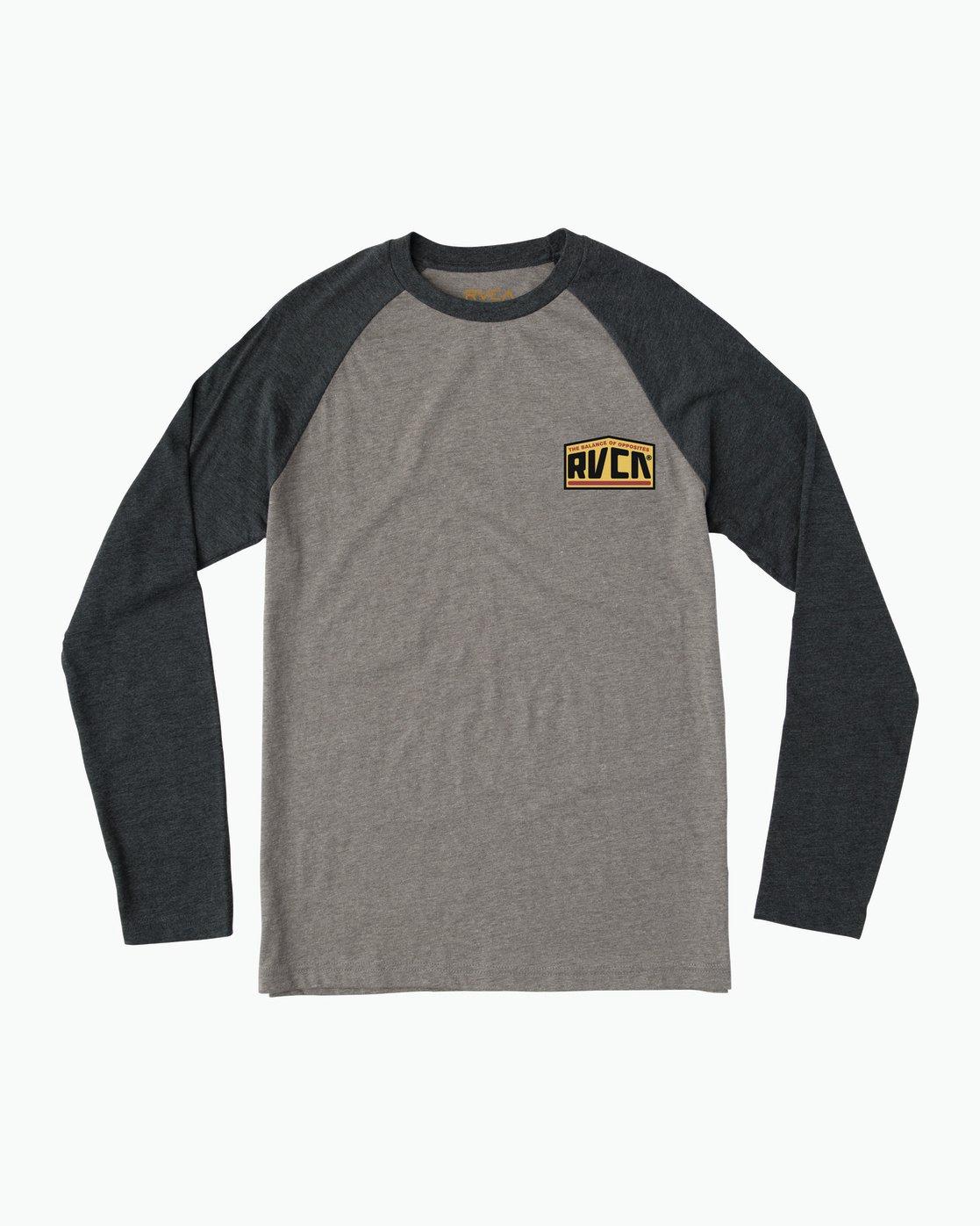 1 Roadside Baseball Raglan T-Shirt  M454SRRO RVCA