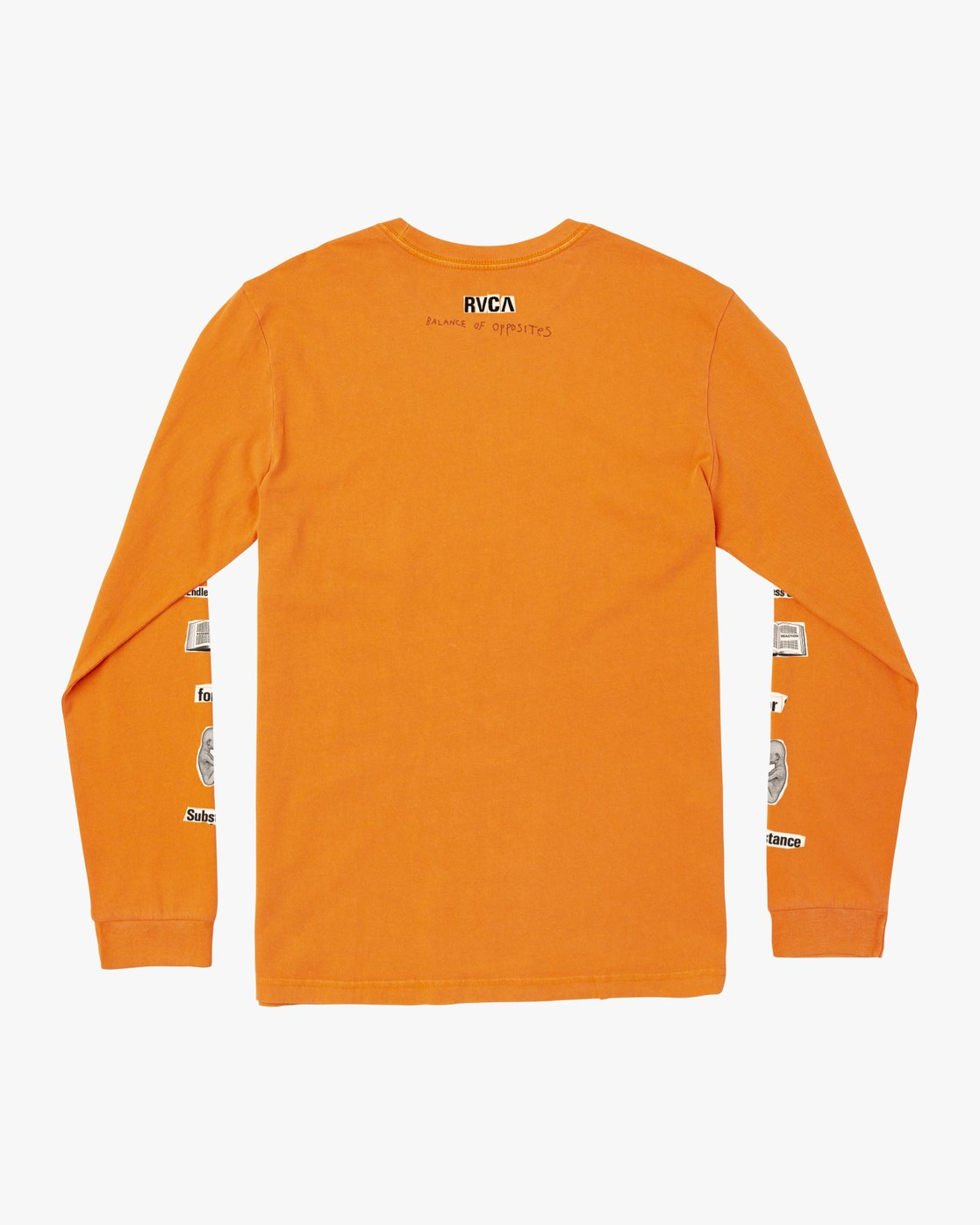 1 ENDLESS SEARCH LONG SLEEVE TEE Orange M4551RES RVCA