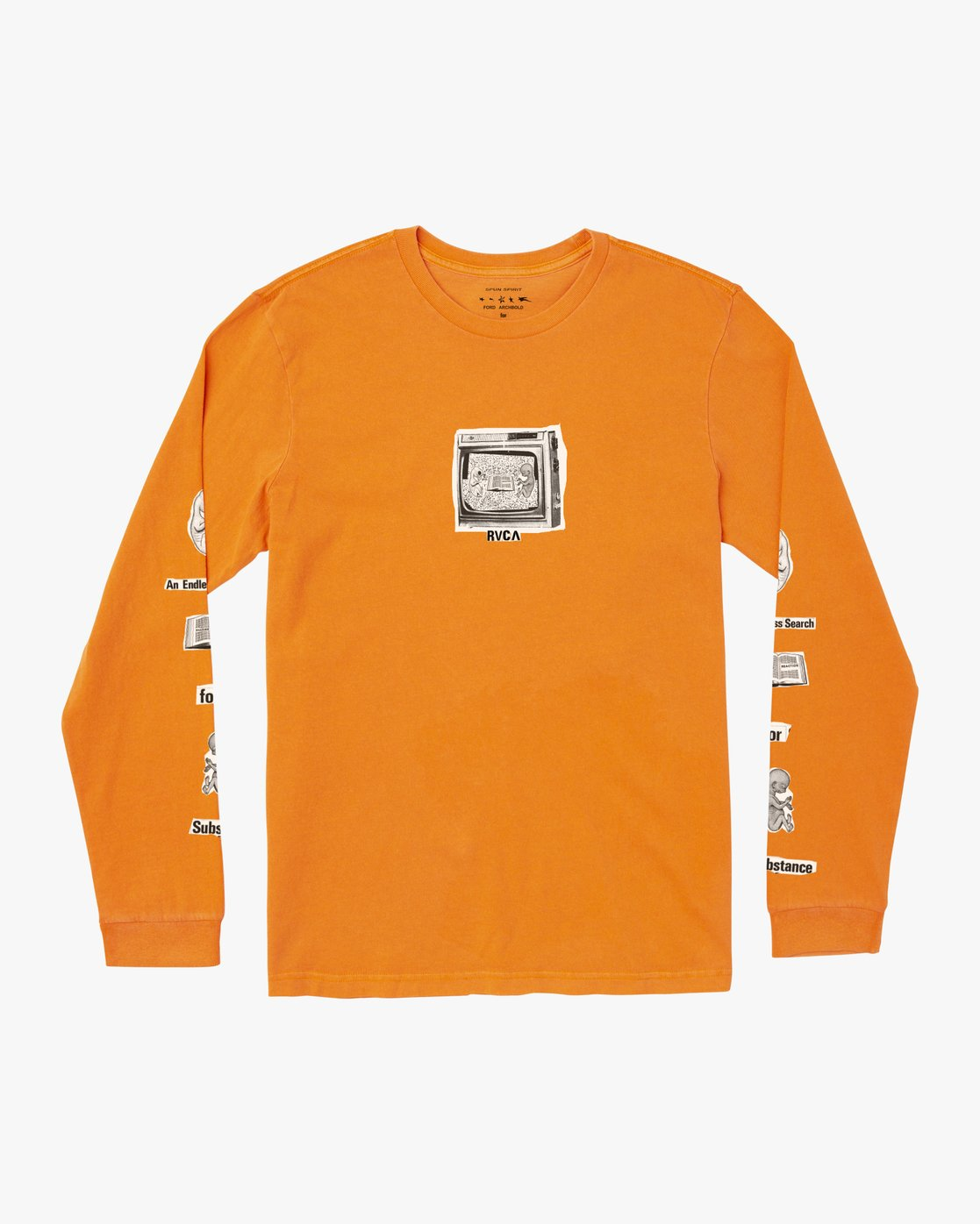 0 ENDLESS SEARCH LONG SLEEVE T-SHIRT Orange M4551RES RVCA