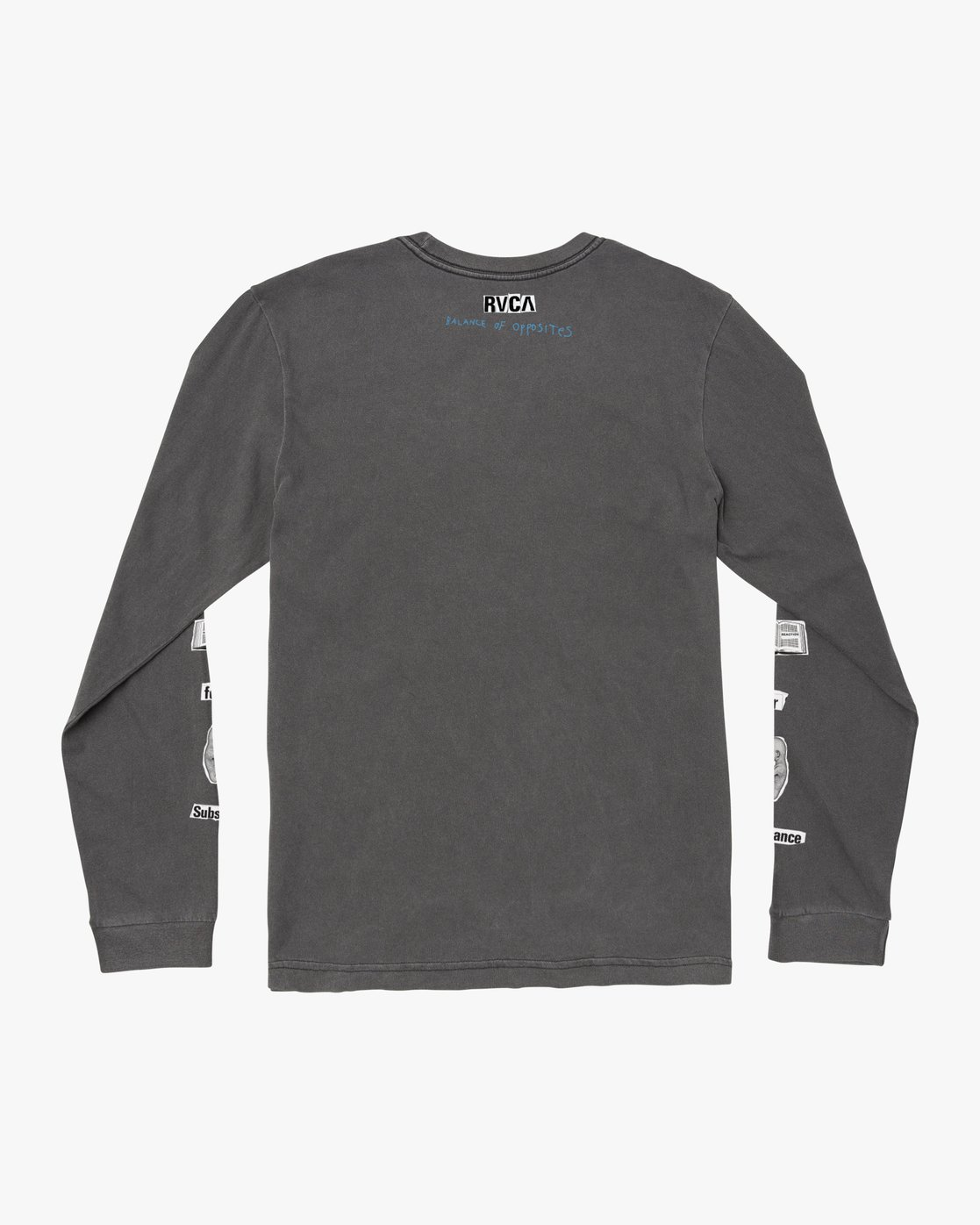1 ENDLESS SEARCH LONG SLEEVE TEE Black M4551RES RVCA