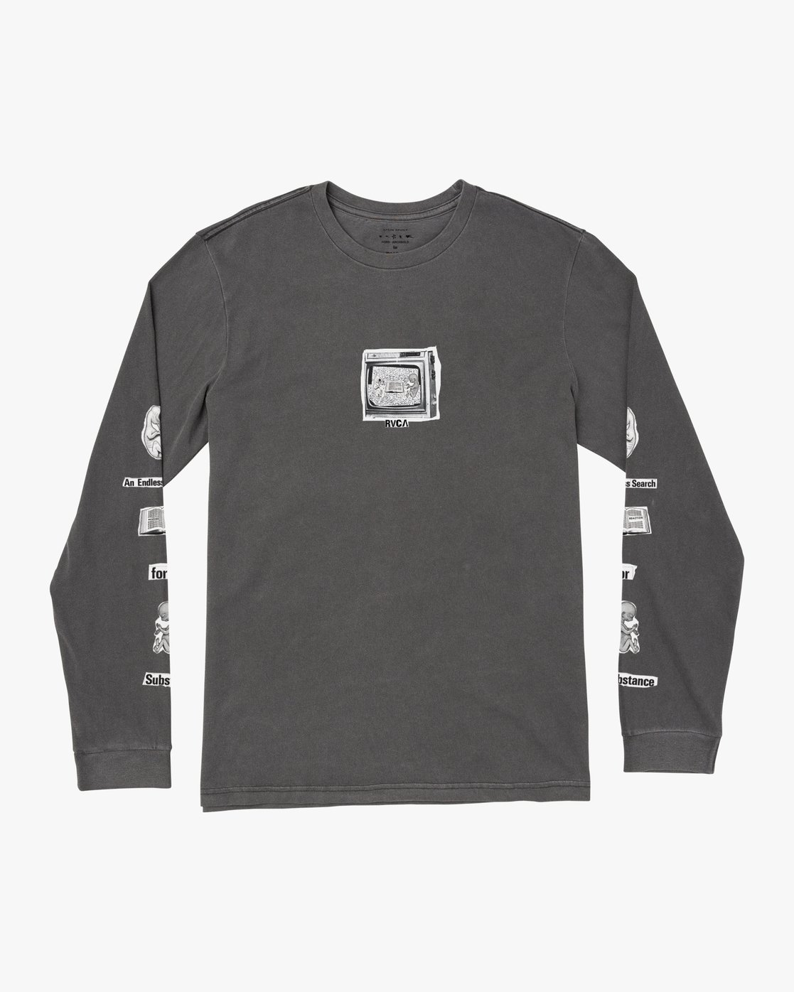 0 ENDLESS SEARCH LONG SLEEVE TEE Black M4551RES RVCA