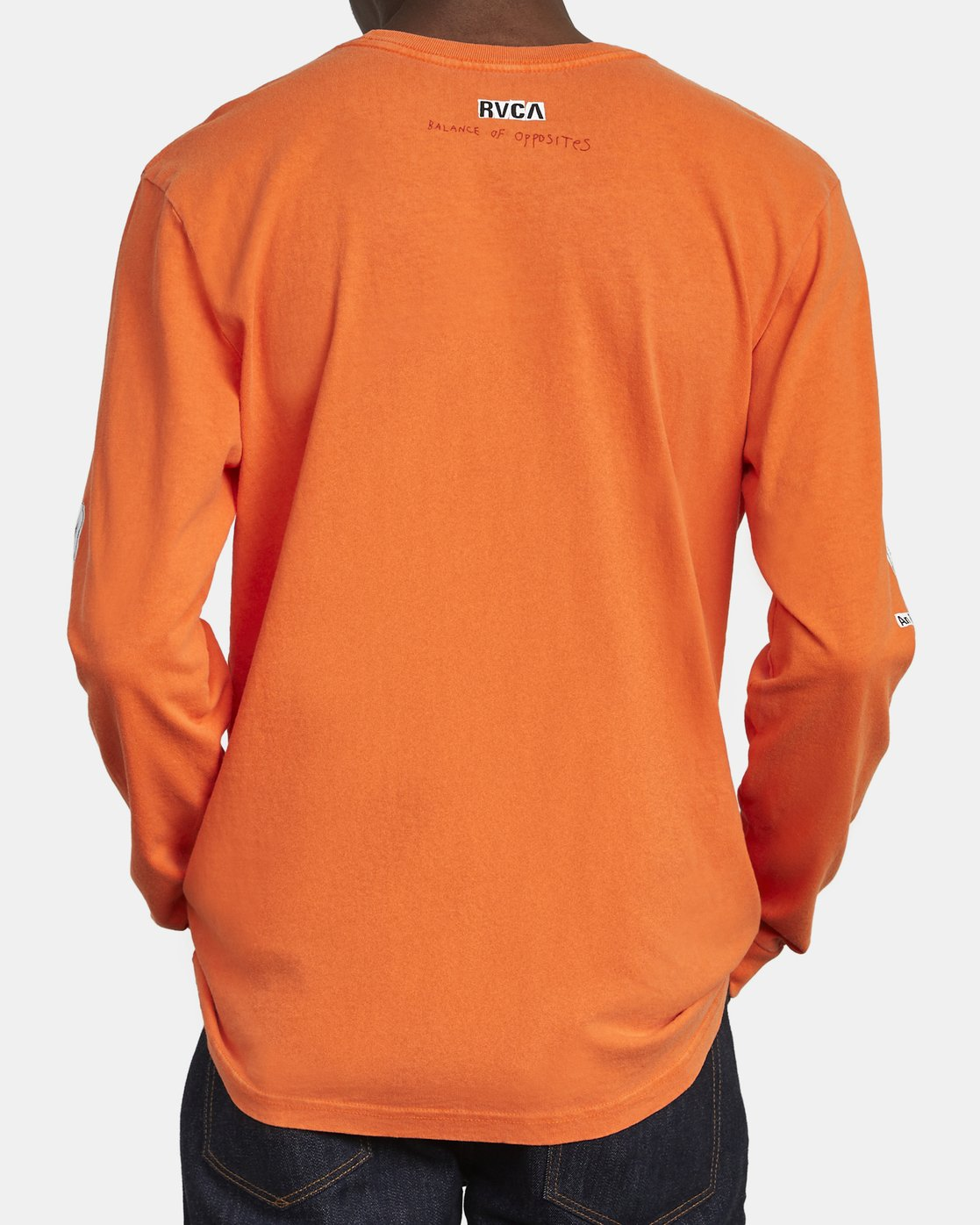 6 ENDLESS SEARCH LONG SLEEVE TEE Orange M4551RES RVCA