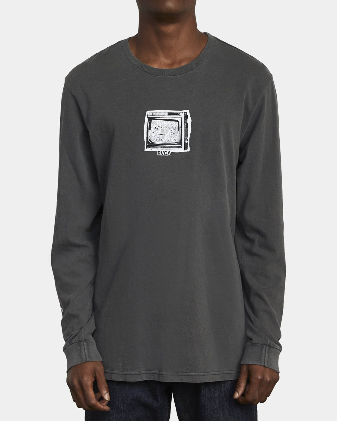 2 ENDLESS SEARCH LONG SLEEVE TEE Black M4551RES RVCA