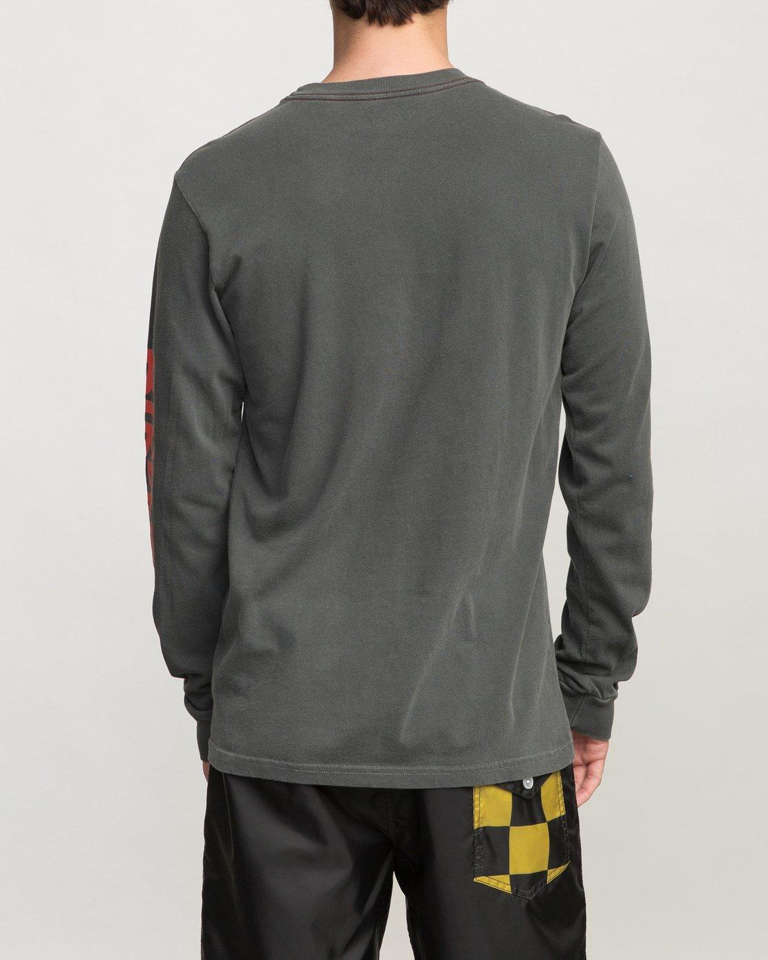 4 Birdwell Collab 02 Long Sleeve T-Shirt Black M456PRCB RVCA
