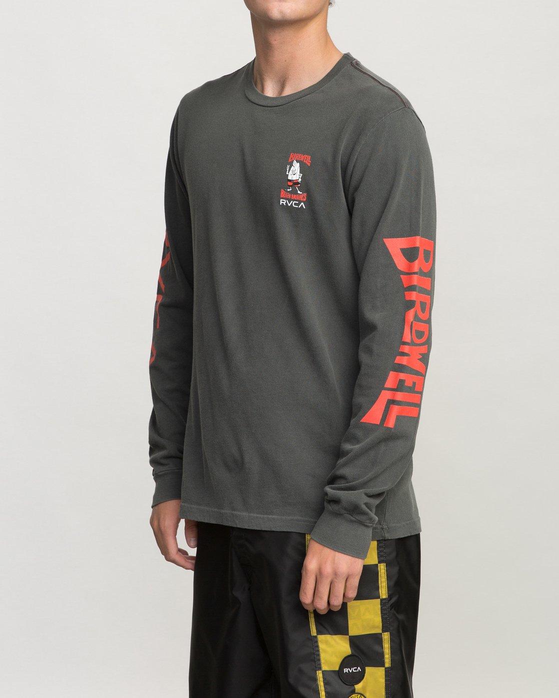 2 Birdwell Collab 02 Long Sleeve T-Shirt Black M456PRCB RVCA