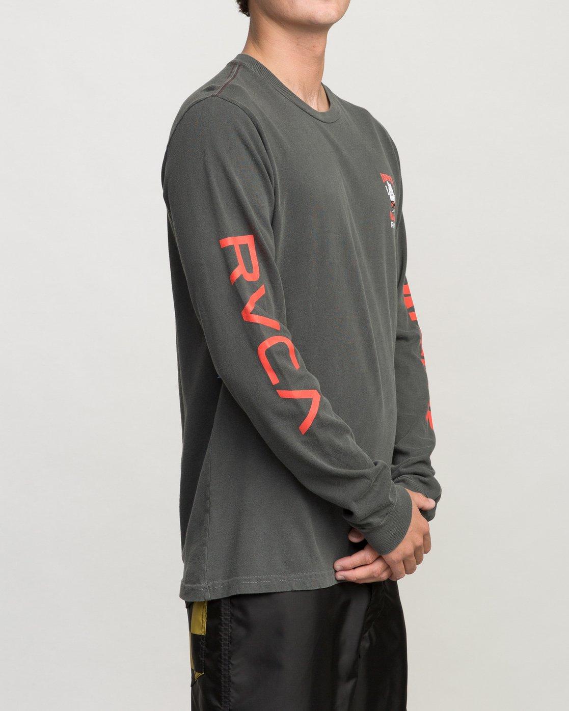 3 Birdwell Collab 02 Long Sleeve T-Shirt Black M456PRCB RVCA