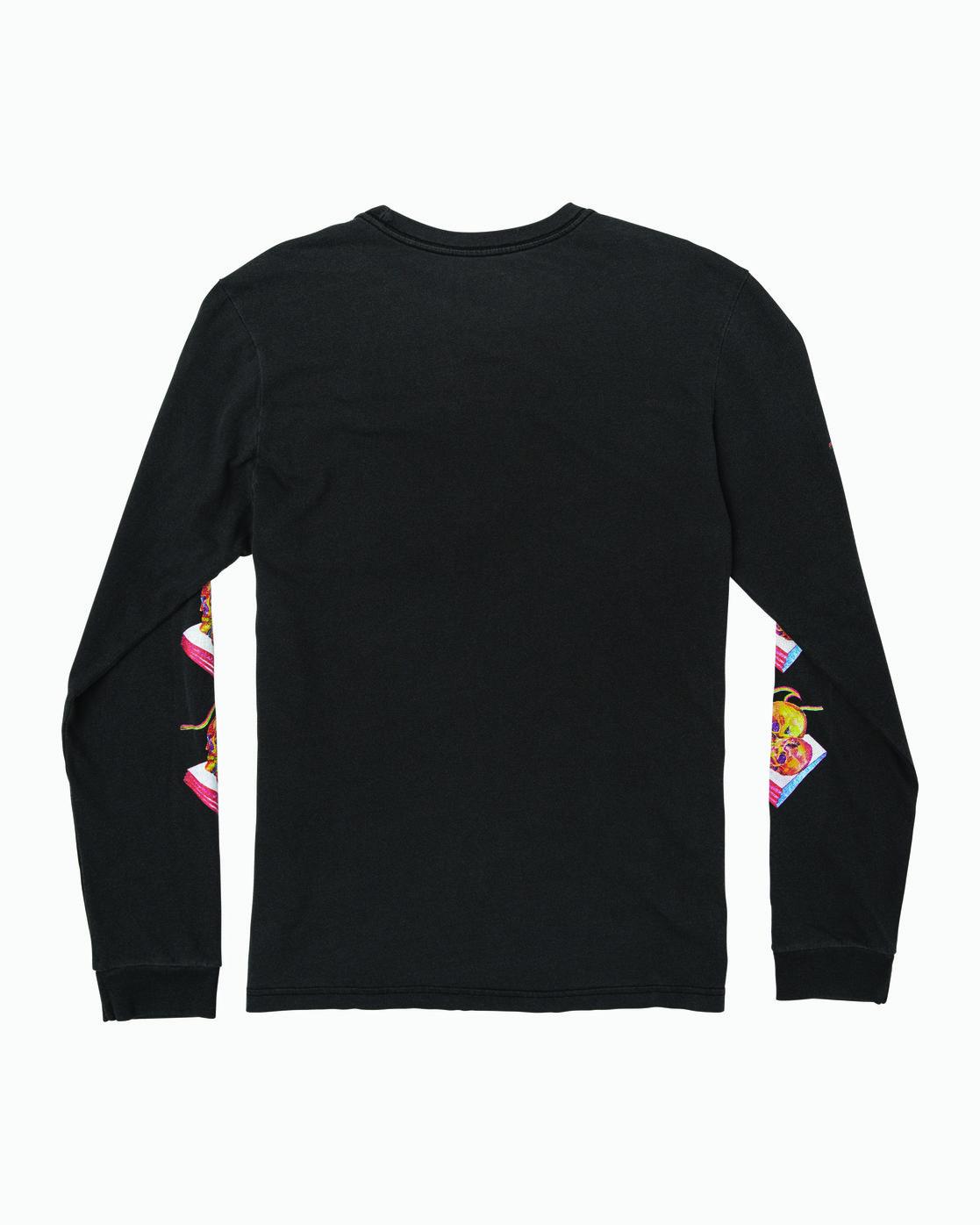 1 Spanky Gallop Long Sleeve T-Shirt Black M456WRGA RVCA