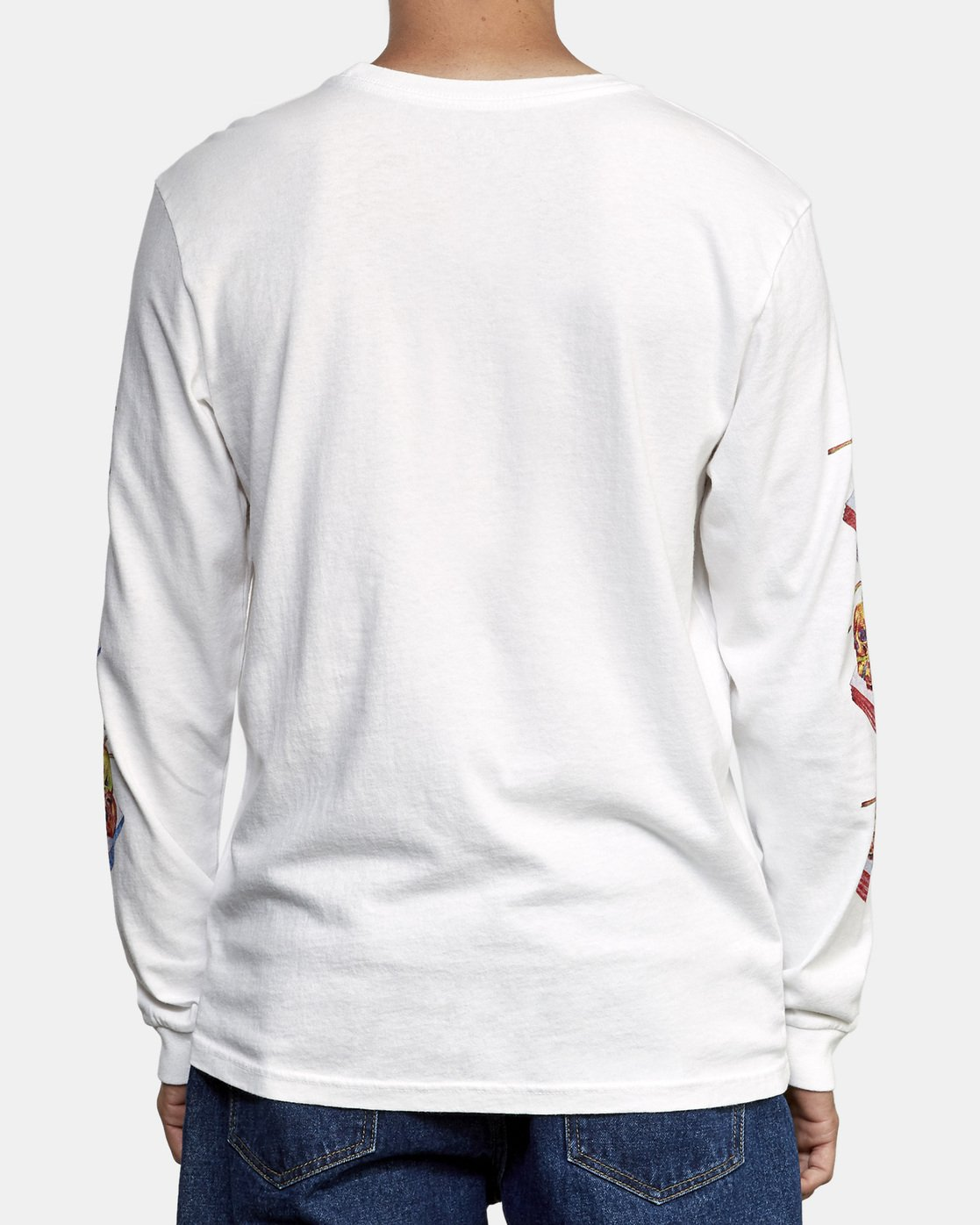 5 Spanky Gallop Long Sleeve T-Shirt White M456WRGA RVCA