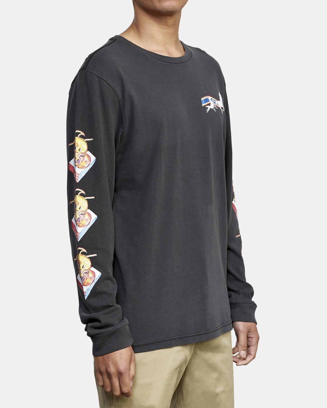 4 Spanky Gallop Long Sleeve T-Shirt Black M456WRGA RVCA