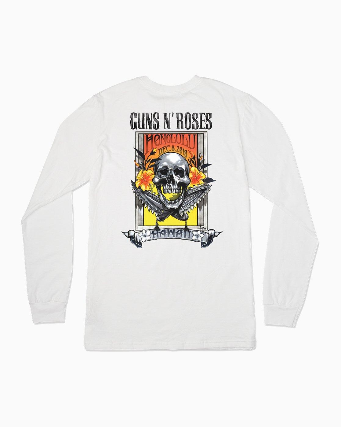 0 Axis Guns N Roses Long Sleeve T-Shirt  M459SRAX RVCA