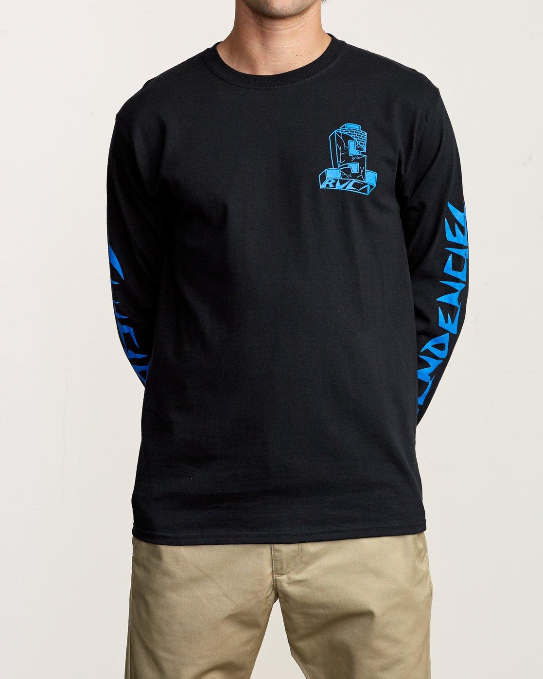 3 RVCA x Suicidal Tendencies Long Sleeve T-Shirt Black M459TRSU RVCA