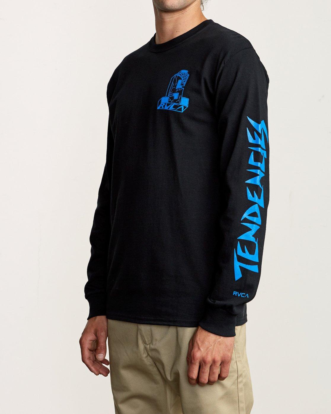 4 RVCA x Suicidal Tendencies Long Sleeve T-Shirt Black M459TRSU RVCA
