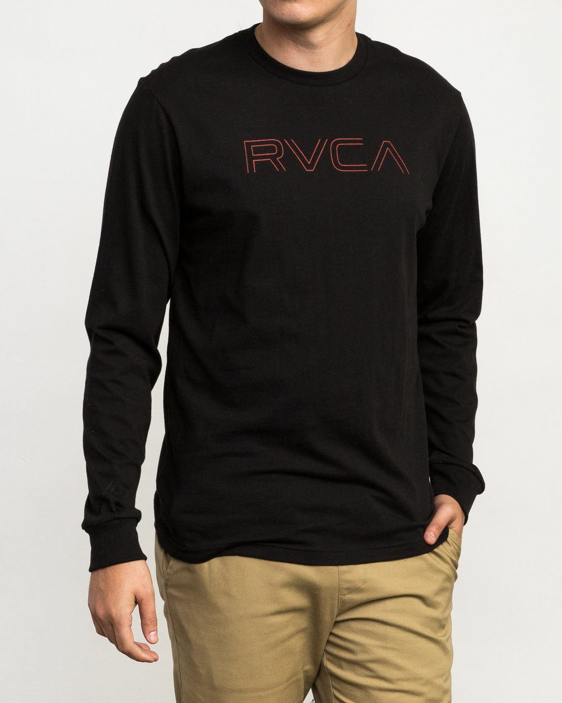 1 Pinner Long Sleeve T-Shirt Black M460QRRV RVCA